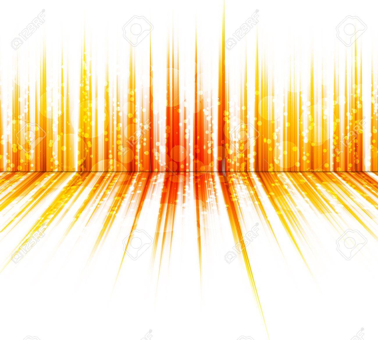 Abstract Orange Colours On A White Background Spectrum