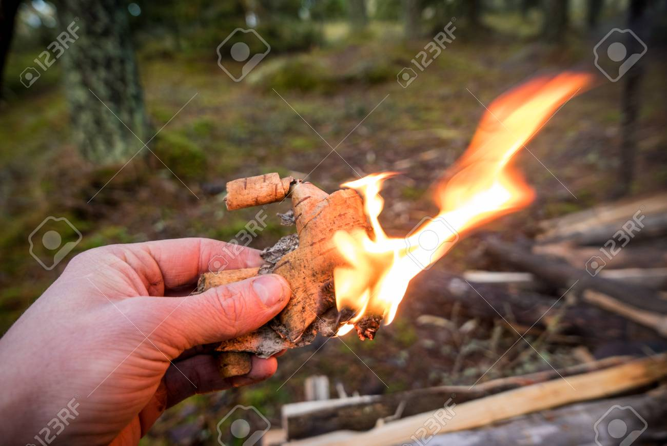 MAKING BARK FIRE I Coffee in the Woods with the BUSHBOX