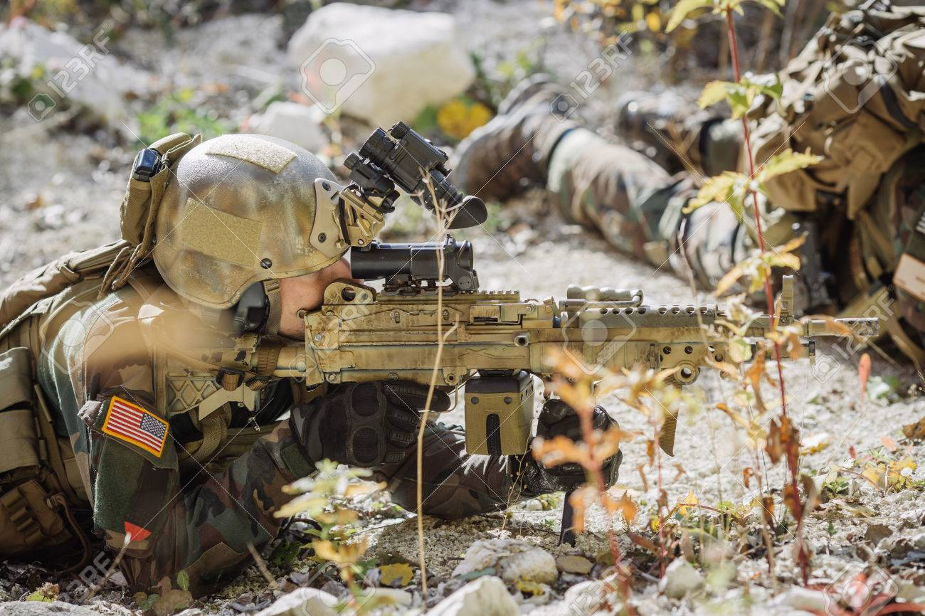 rangers aiming at a target of weapons stock photo picture and