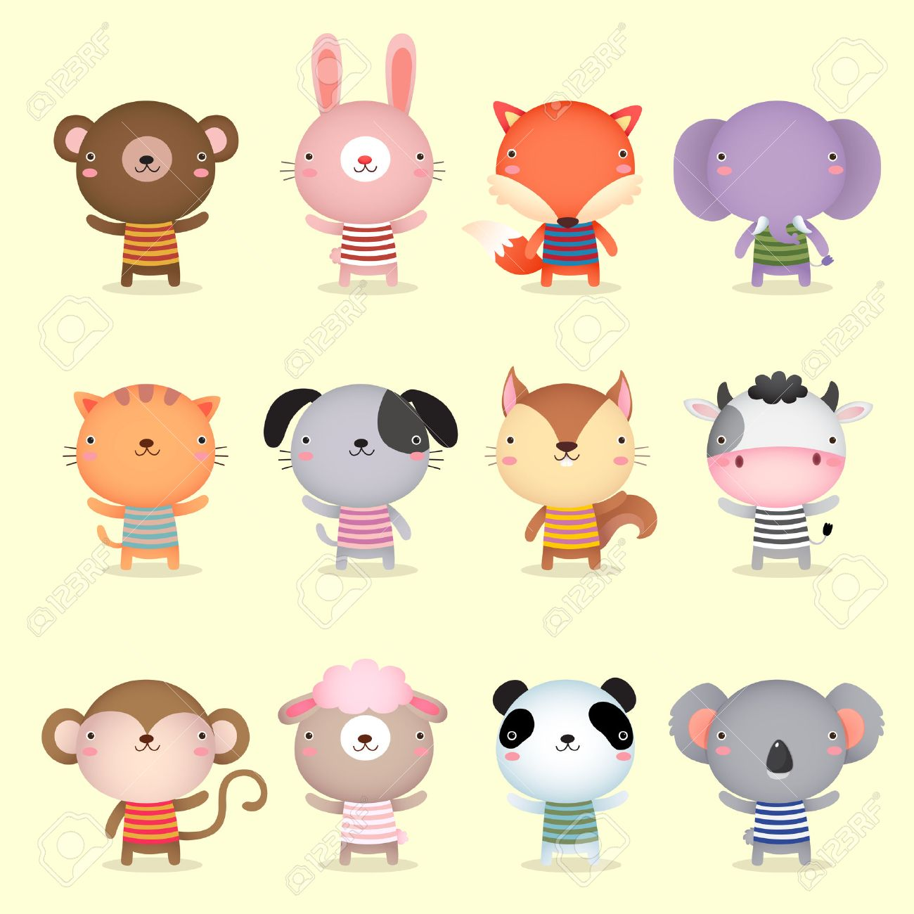 Illustration Of Cute Animals Collections Royalty Free Cliparts ...