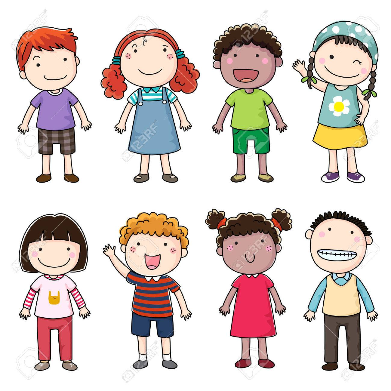 Collection of happy children - 51009962