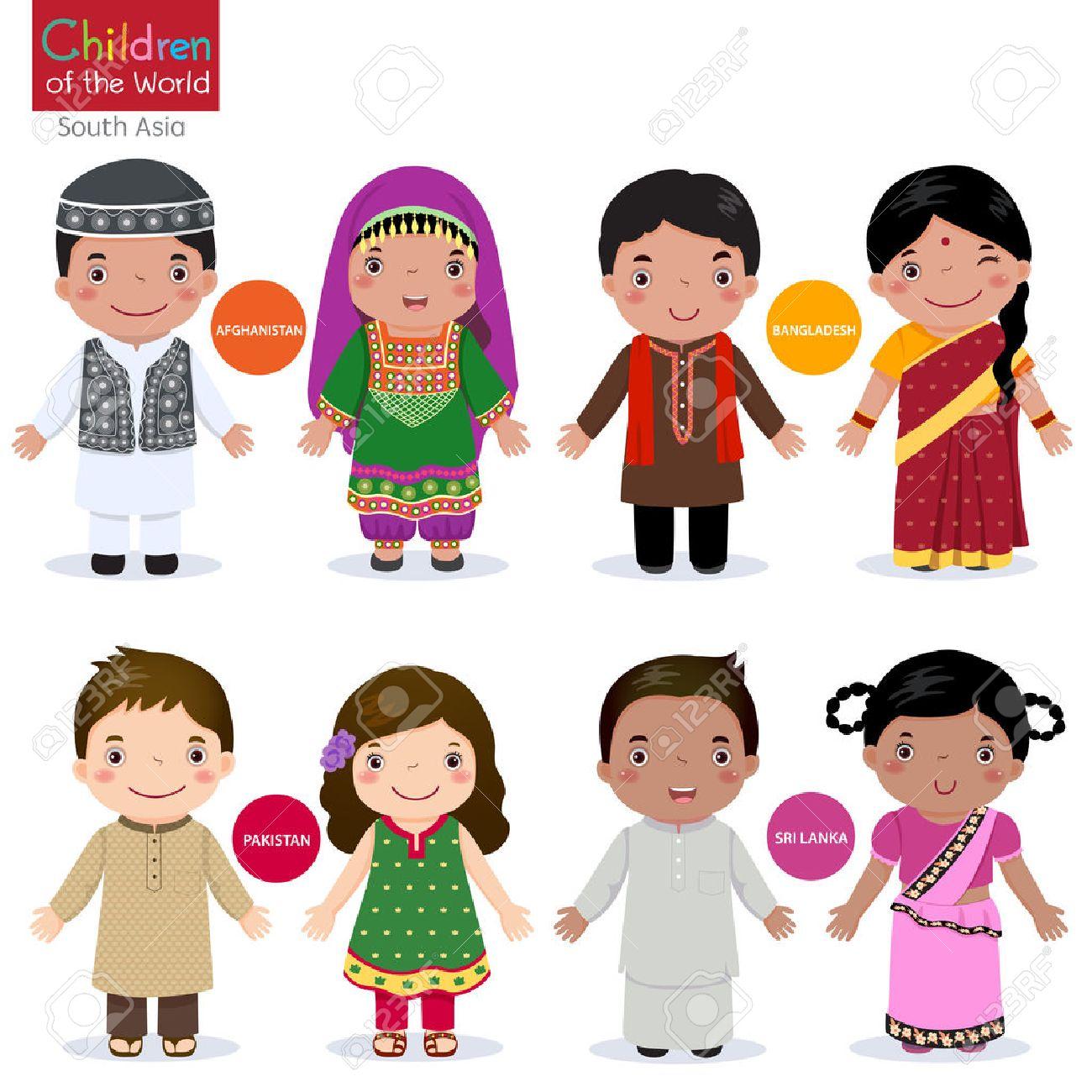 Kids in traditional costume Afghanistan, Bangladesh, Pakistan and Srilanka - 51222623