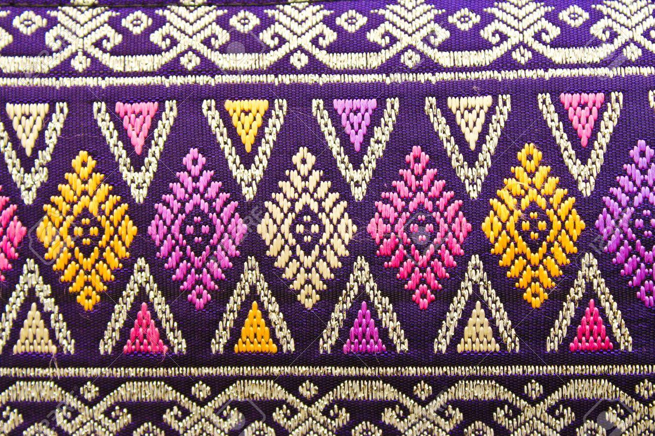 ancient thai woven cloth Stock Photo - 12363421
