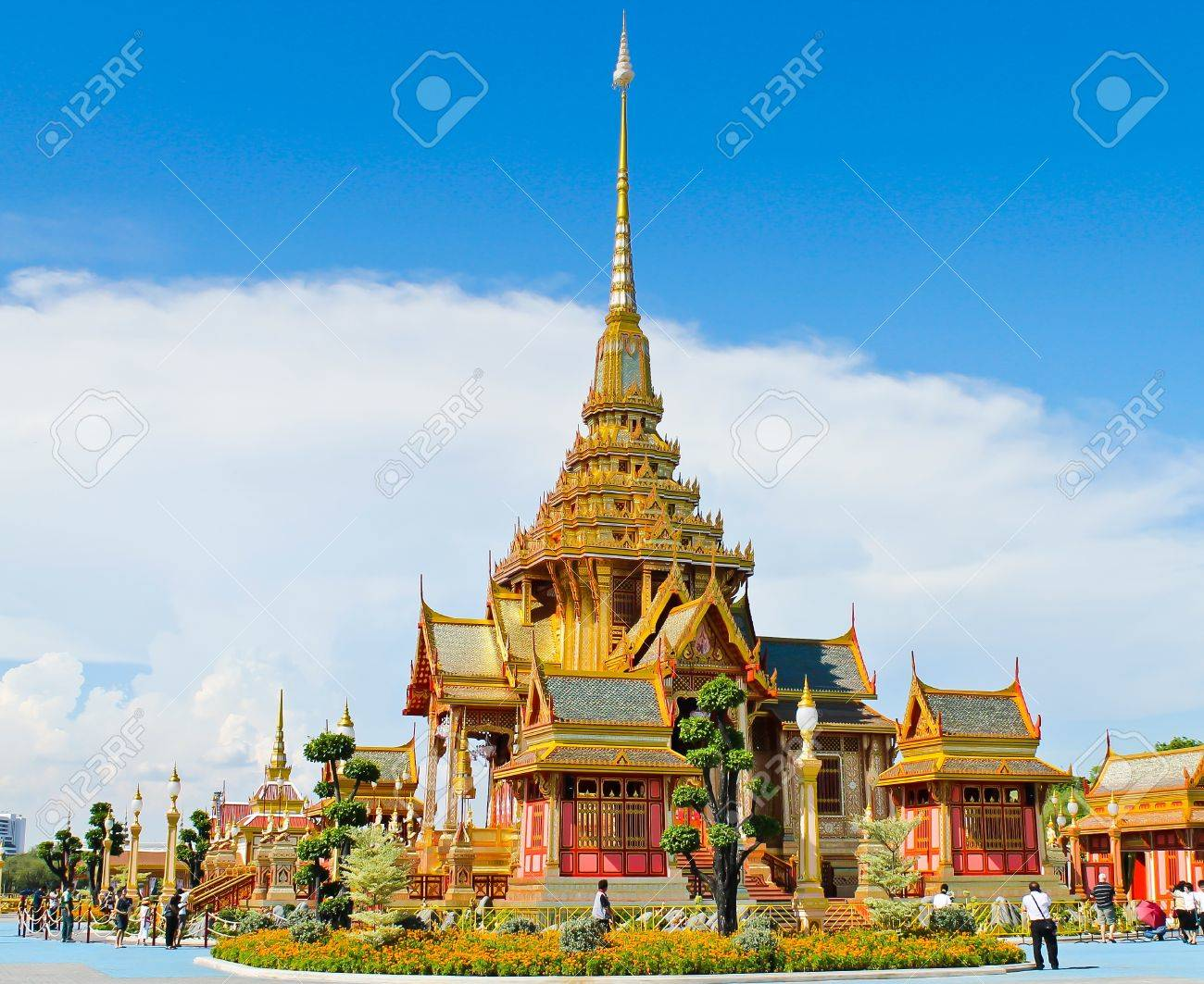 The royal crematorium in the royal cremation ceremony, Thailand Stock Photo - 13293850