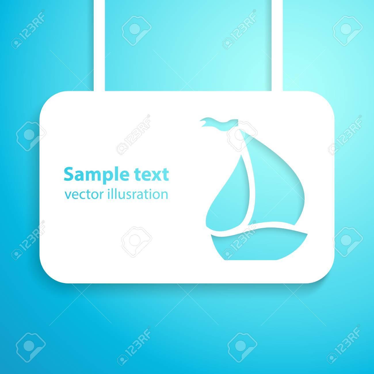 Segelboot applikation  Segelboot Applikation Hintergrund Illustration Für Ihr Abenteuer Und ...
