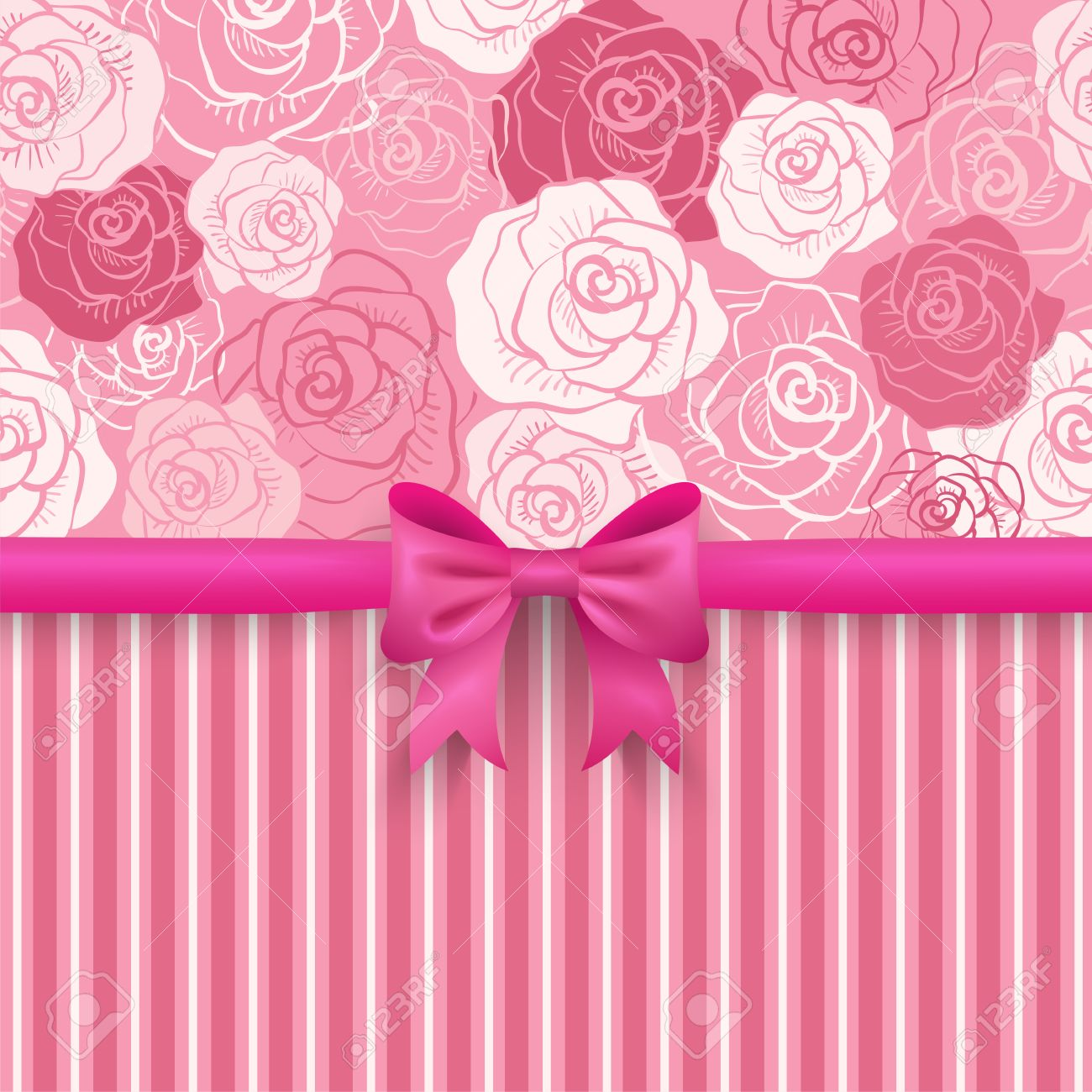 romantic vector seamless background. pink, red, white shabby