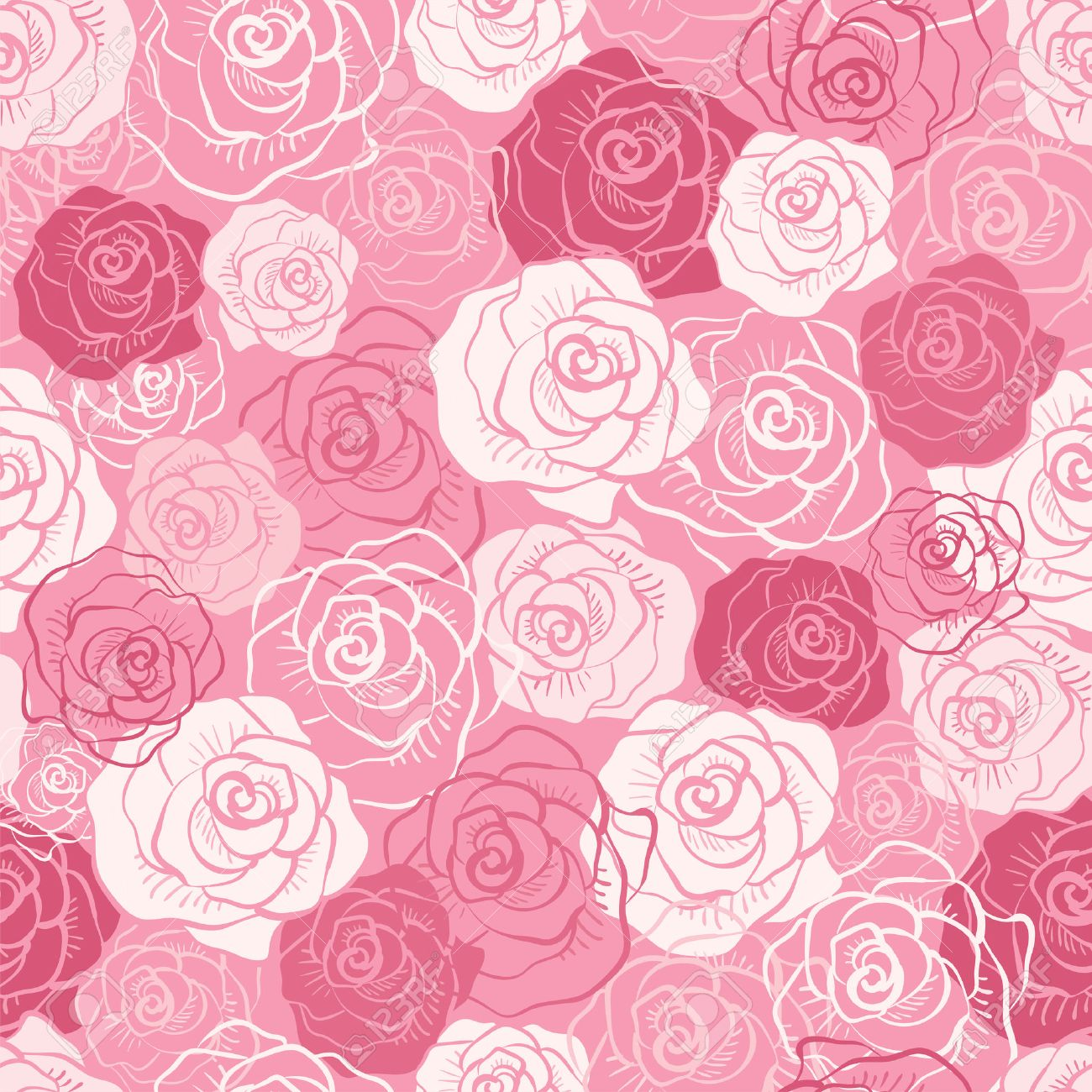 Free Vector Pink Floral Pattern 14
