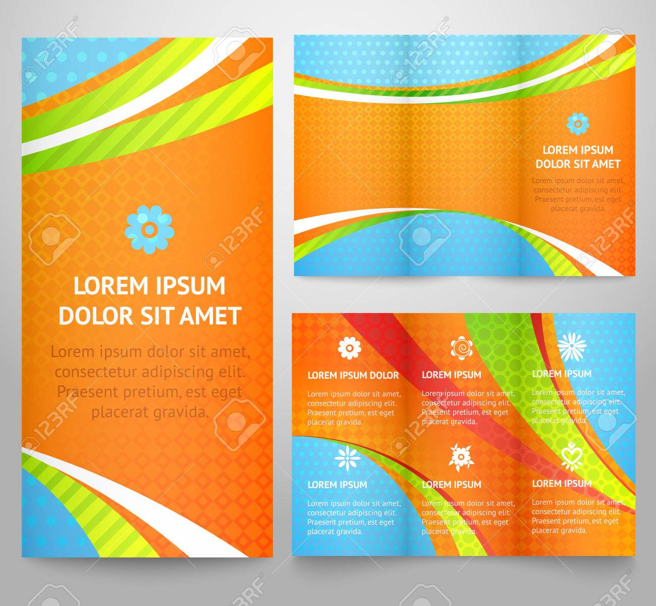 professional three fold business flyer template corporate professional three fold business flyer template corporate brochure or cover design print vector