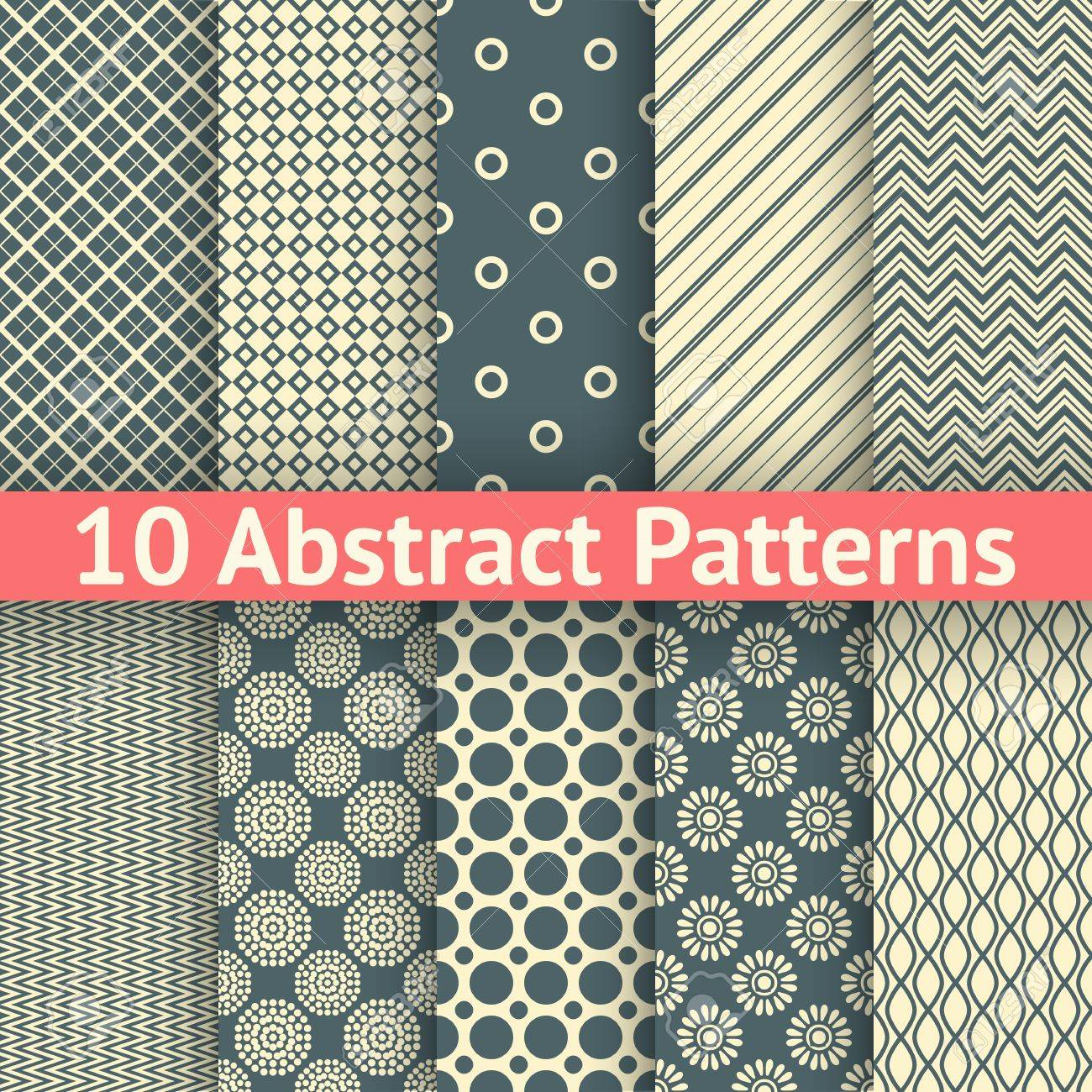 Abstract Vintage Geometric Template With Triangles - Pattern ...