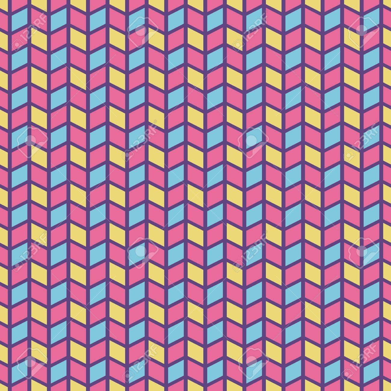 Colorful Crazy Vector Seamless Pattern Tiling Pink, Yellow ...