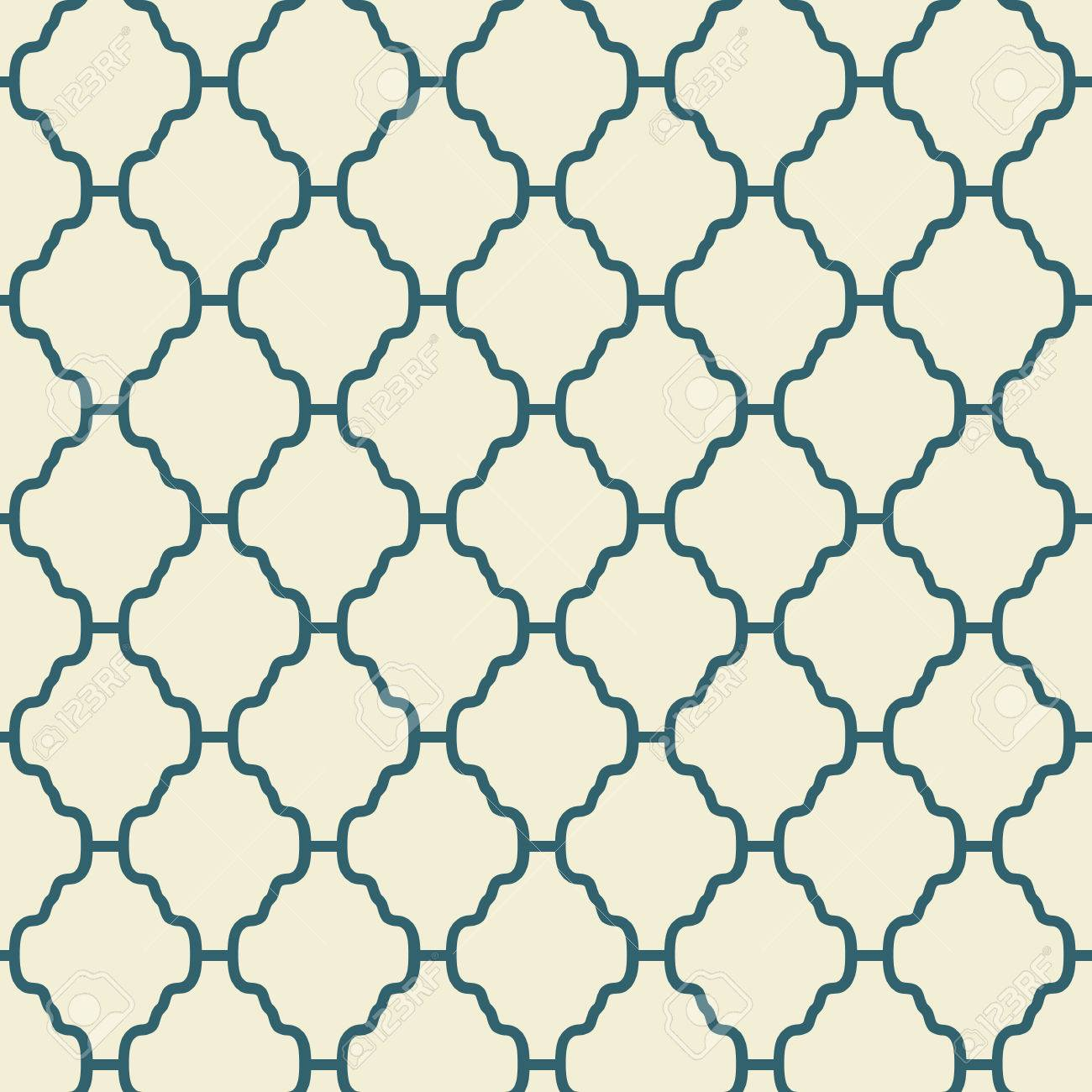 Elegant Vector Seamless Pattern Tiling Retro Blue And White ...