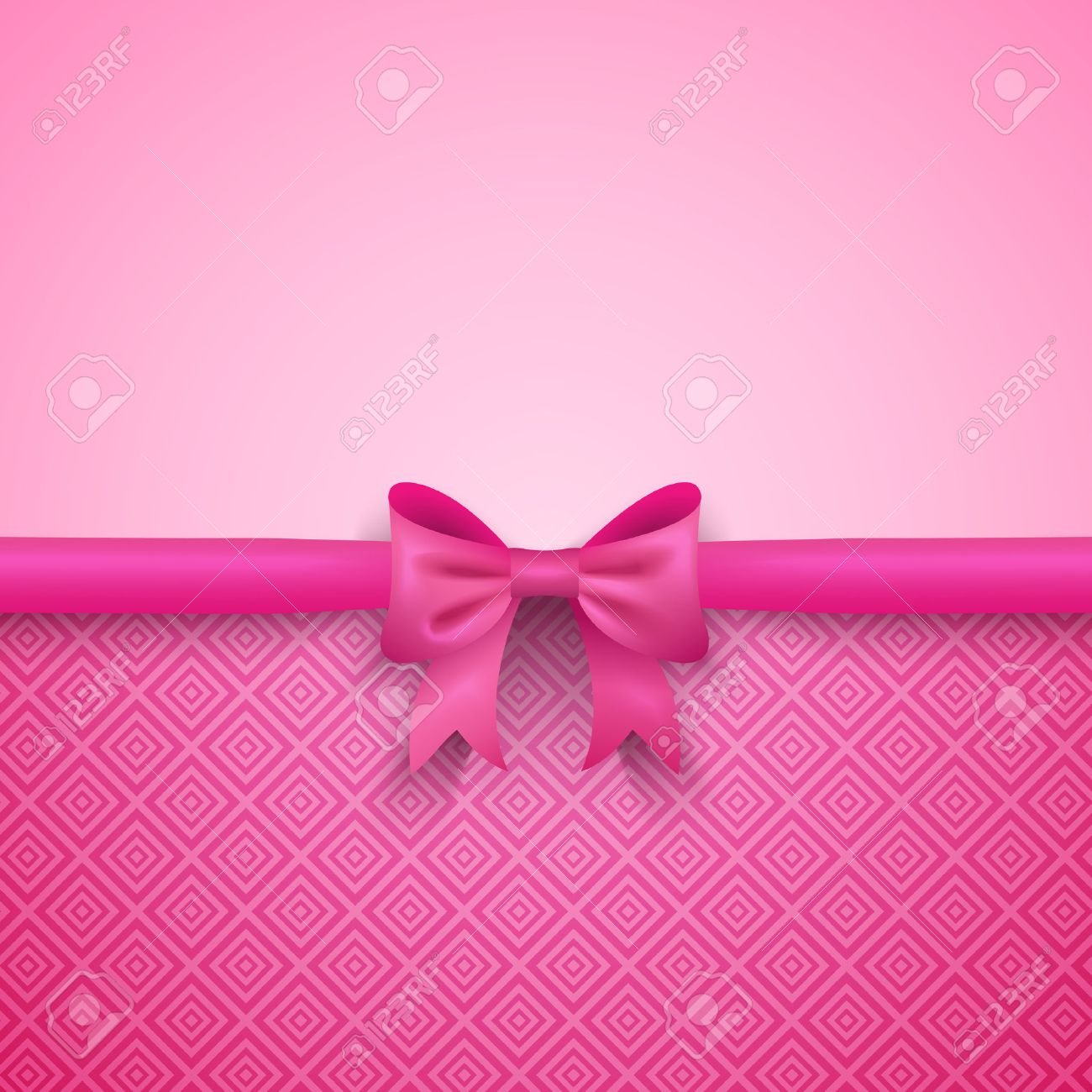 Romantic vector pink background with cute bow and pattern pretty romantic vector pink background with cute bow and pattern pretty design greeting card wallpaper m4hsunfo