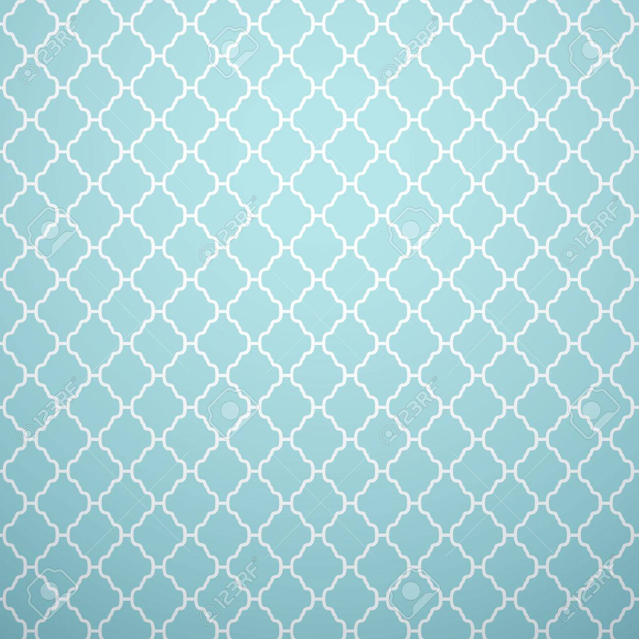 Endless Texture For Wallpaper Fill Web Page Background Surface Monochrome Geometric Ornament Blue And White Shabby Pastel Colors