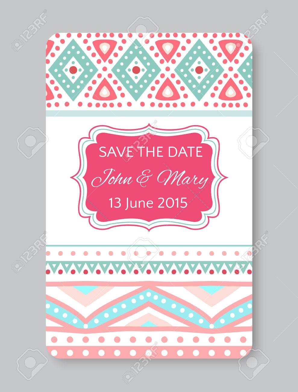 Perfect Wedding Template With Doodles Tribal Theme Ideal For