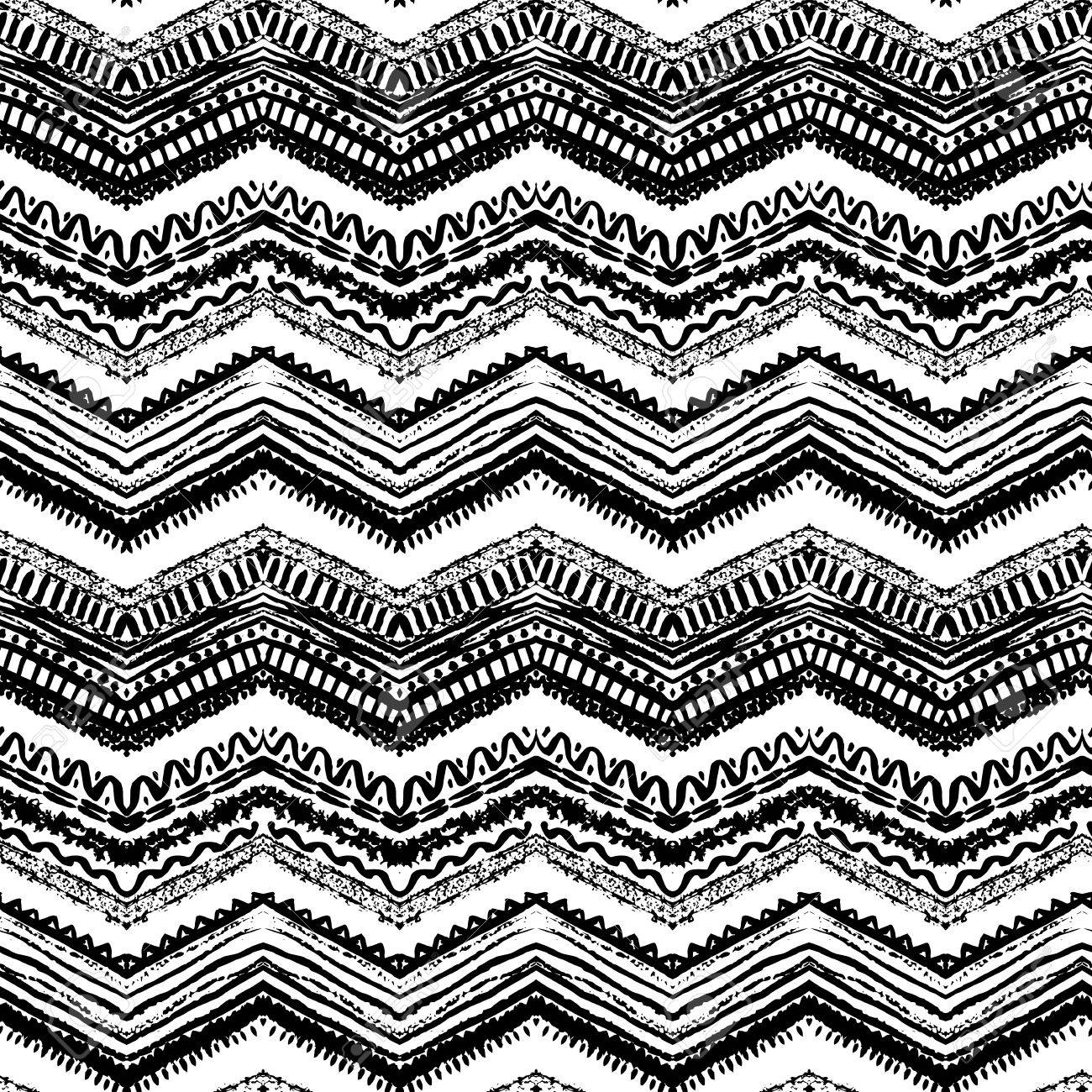Hand Gezeichnet Gemalt Nahtlose Muster. Vektor-Illustration Für ...