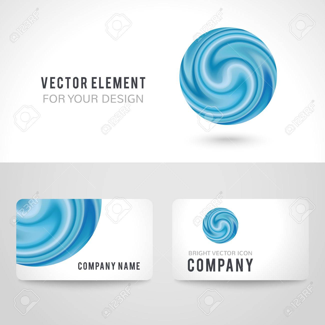 Business card template set abstract blue circle on white background business card template set abstract blue circle on white background vector illustration for modern reheart Choice Image
