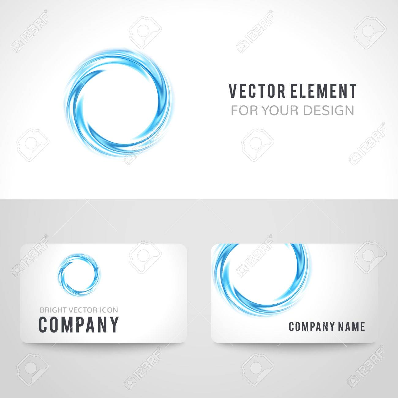 Business card template set abstract blue circle on white background business card template set abstract blue circle on white background vector illustration for modern wajeb Images