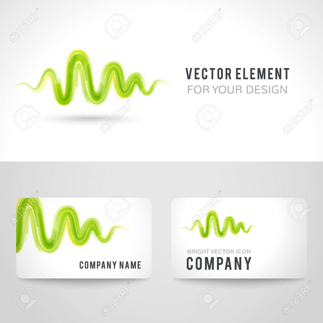Business card template set abstract green wave on white background business card template set abstract green wave on white background vector illustration for modern cheaphphosting Image collections