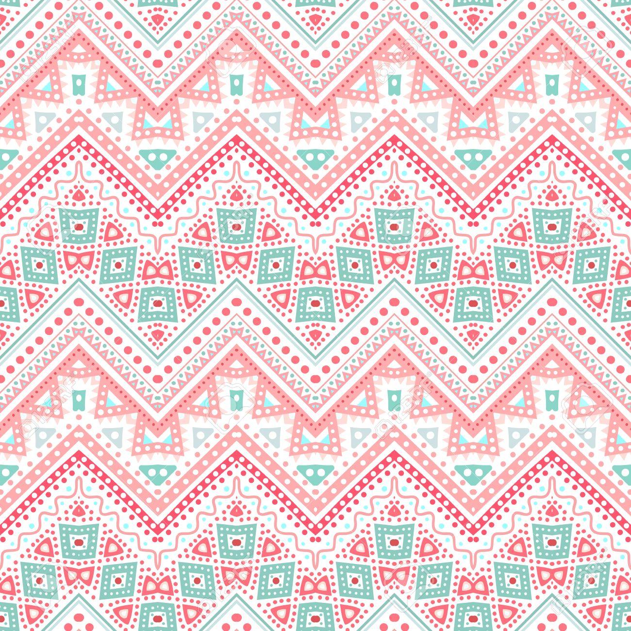 Cute Tribal Pattern Background