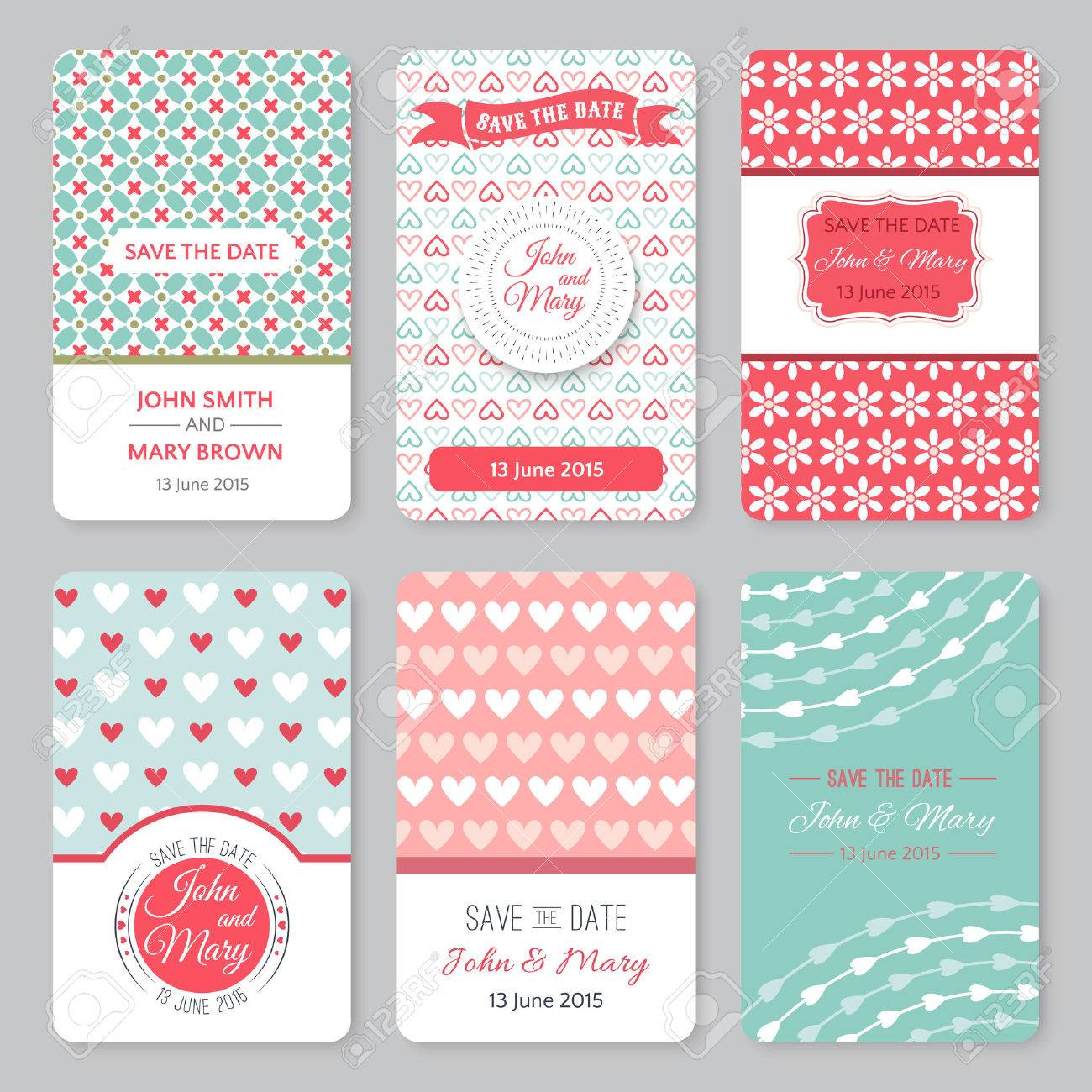 Set Of Perfect Wedding Templates With Pattern Theme Ideal For - Save the date baby shower email template free