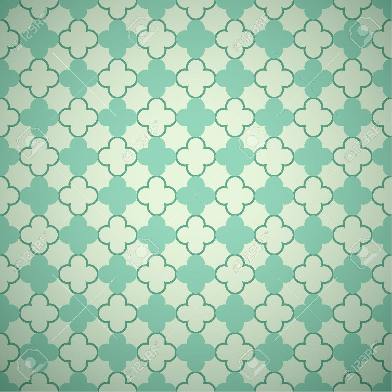 Retro Mint And Emerald Vector Pattern. Endless Texture Can Be ...