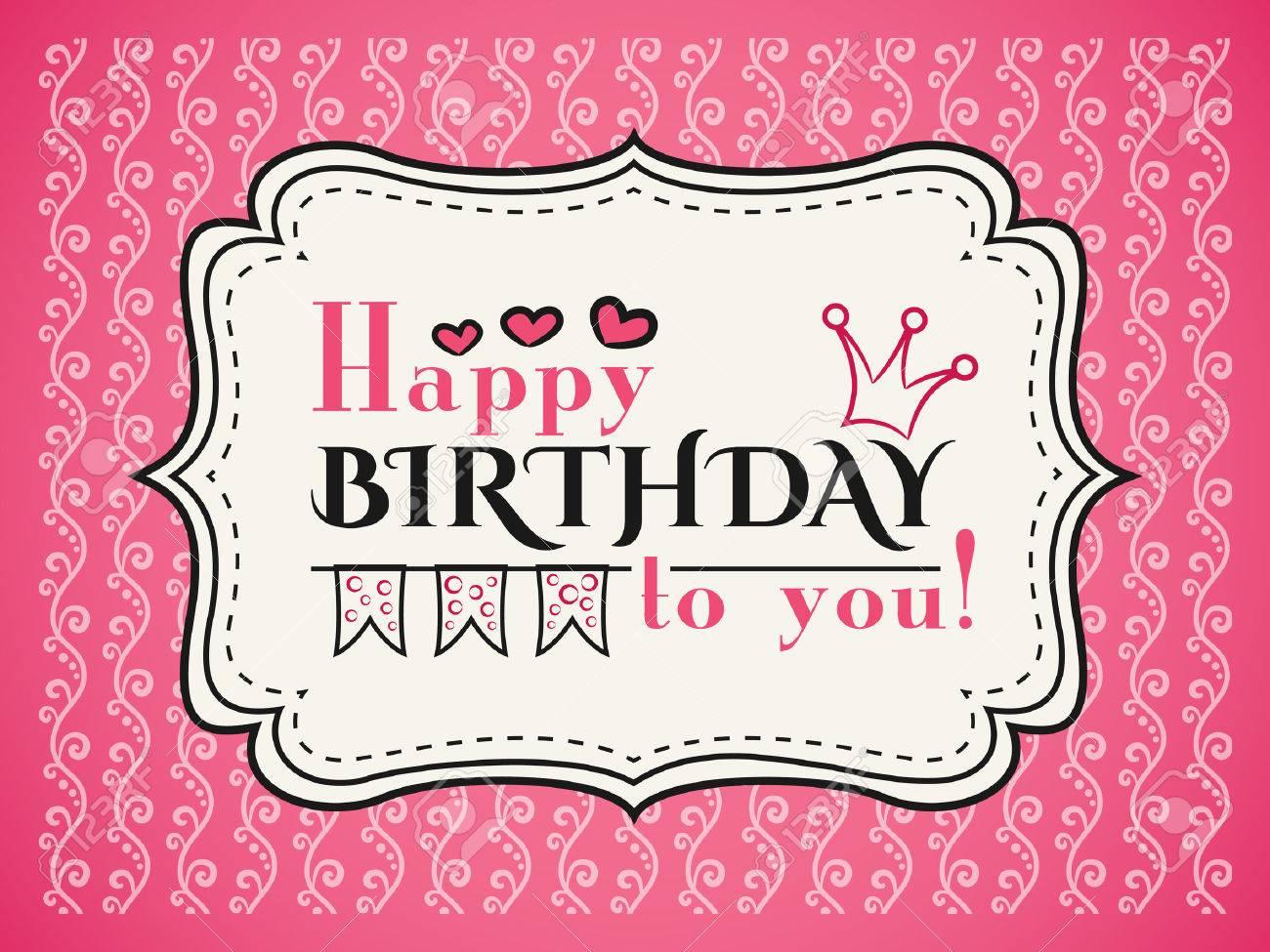 Alles Gute Zum Geburtstag Karte. Typografie Buchstaben Schriftart ...