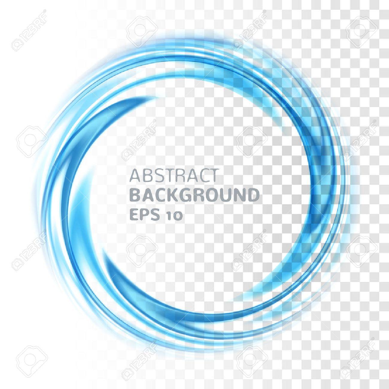 Abstracto Del Círculo Remolino Azul En El Fondo Transparente ...