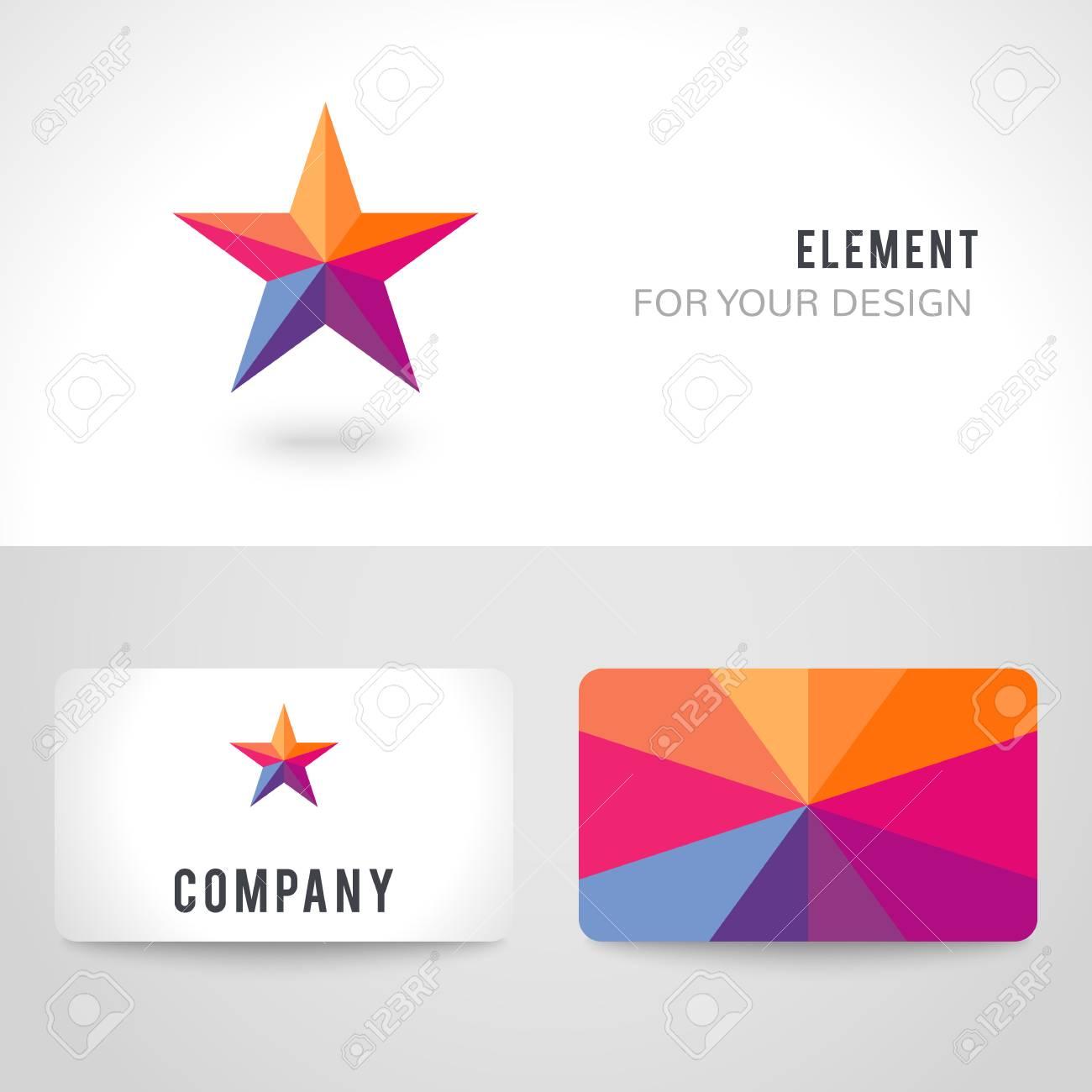 Modle De Carte Visite Dfini Lumineux Forme Dtoile Color
