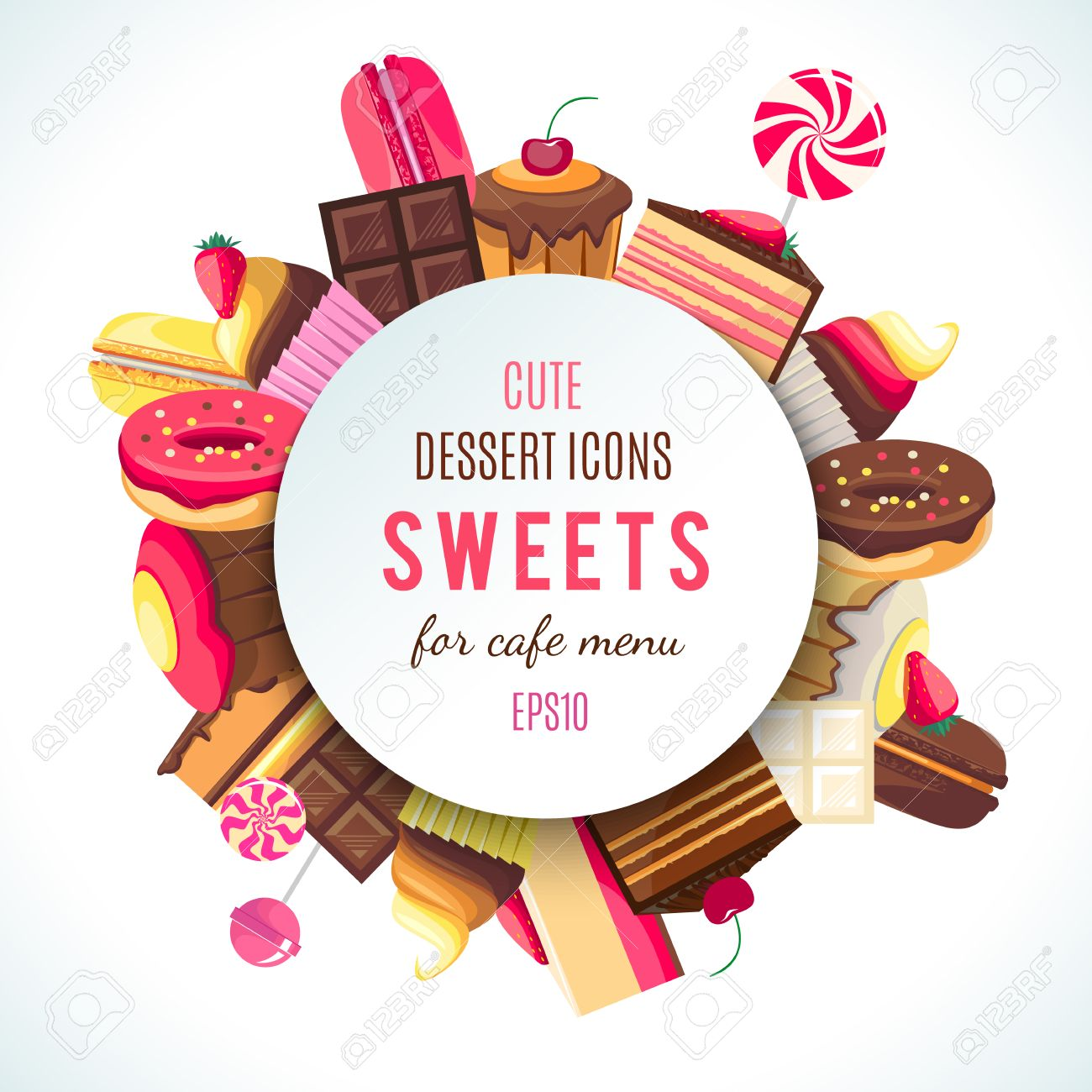 Background for sweets company logo. - 50773682