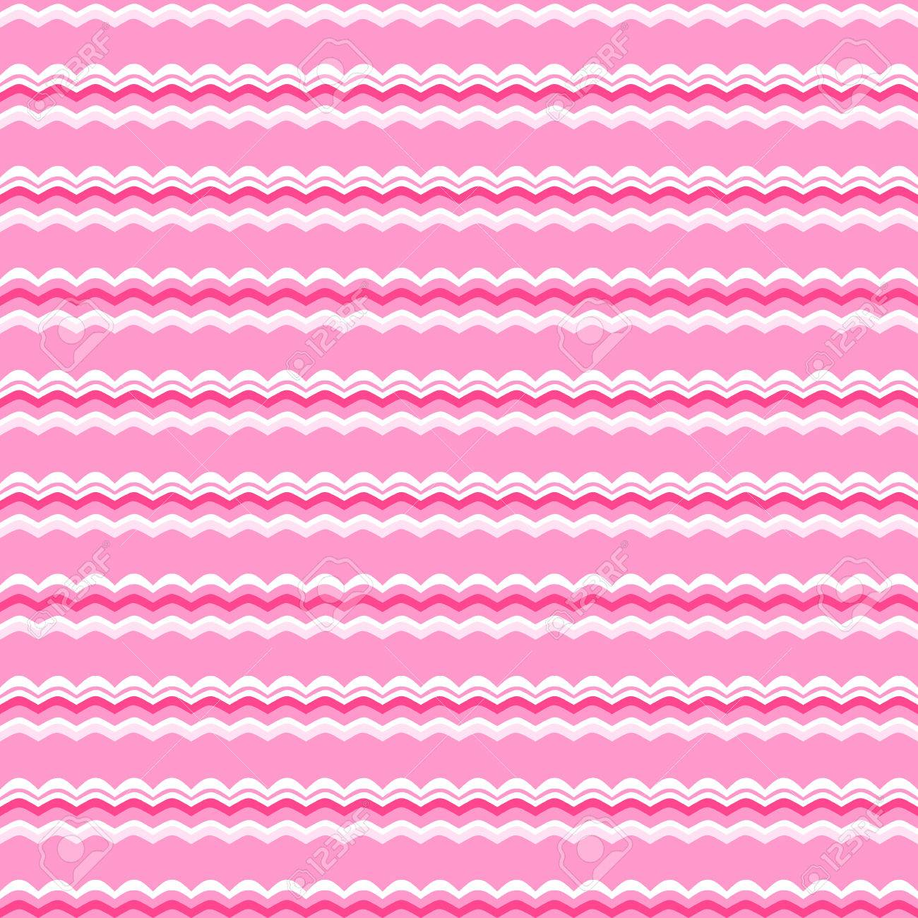 Cute Pink Vector Seamless Pattern Endless Texture For Wallpaper