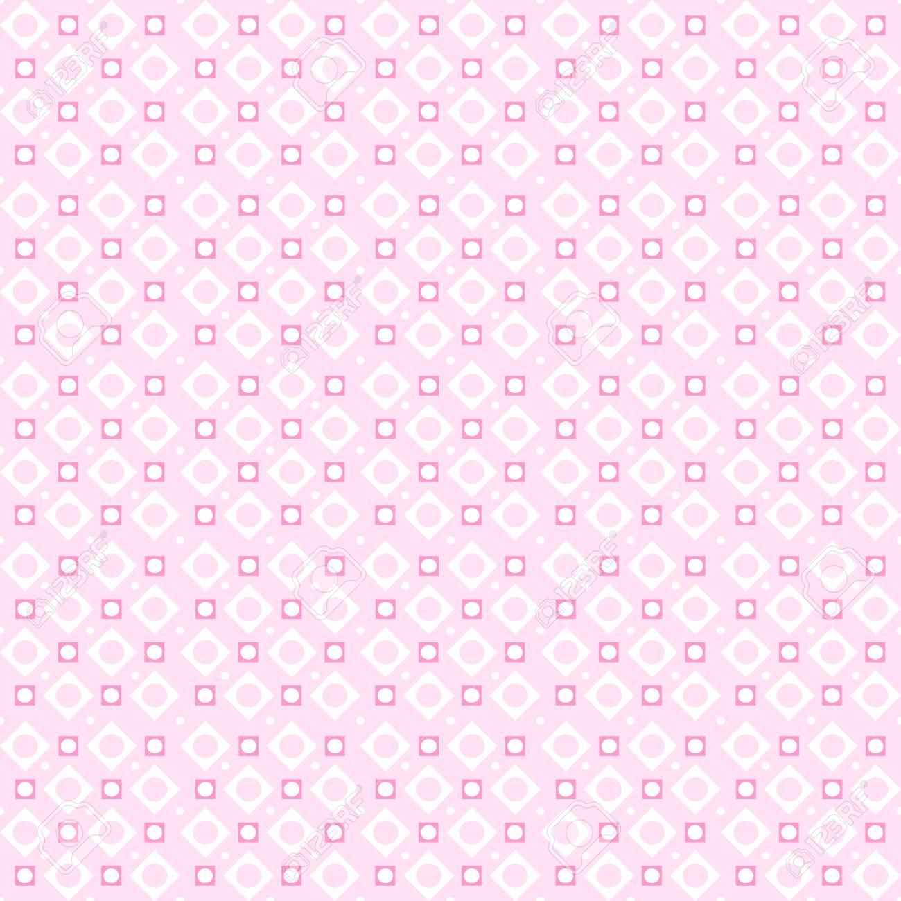 かわいいピンクのベクターのシームレスなパターン 壁紙 塗りつぶし