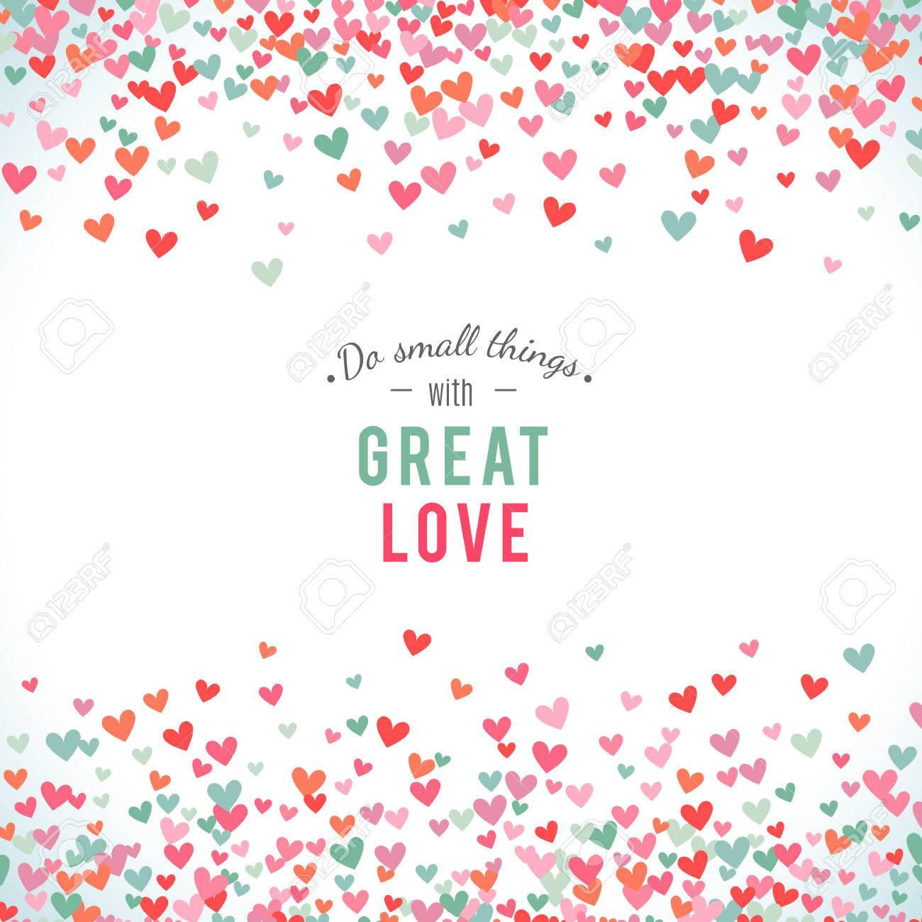 Romantic pink and blue heart background. Vector illustration for holiday design. Many flying hearts on white background. For wedding card, valentine day greetings, lovely frame. - 51850075