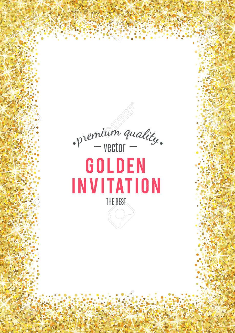 Gold glitter texture isolated on white background. - 53524088