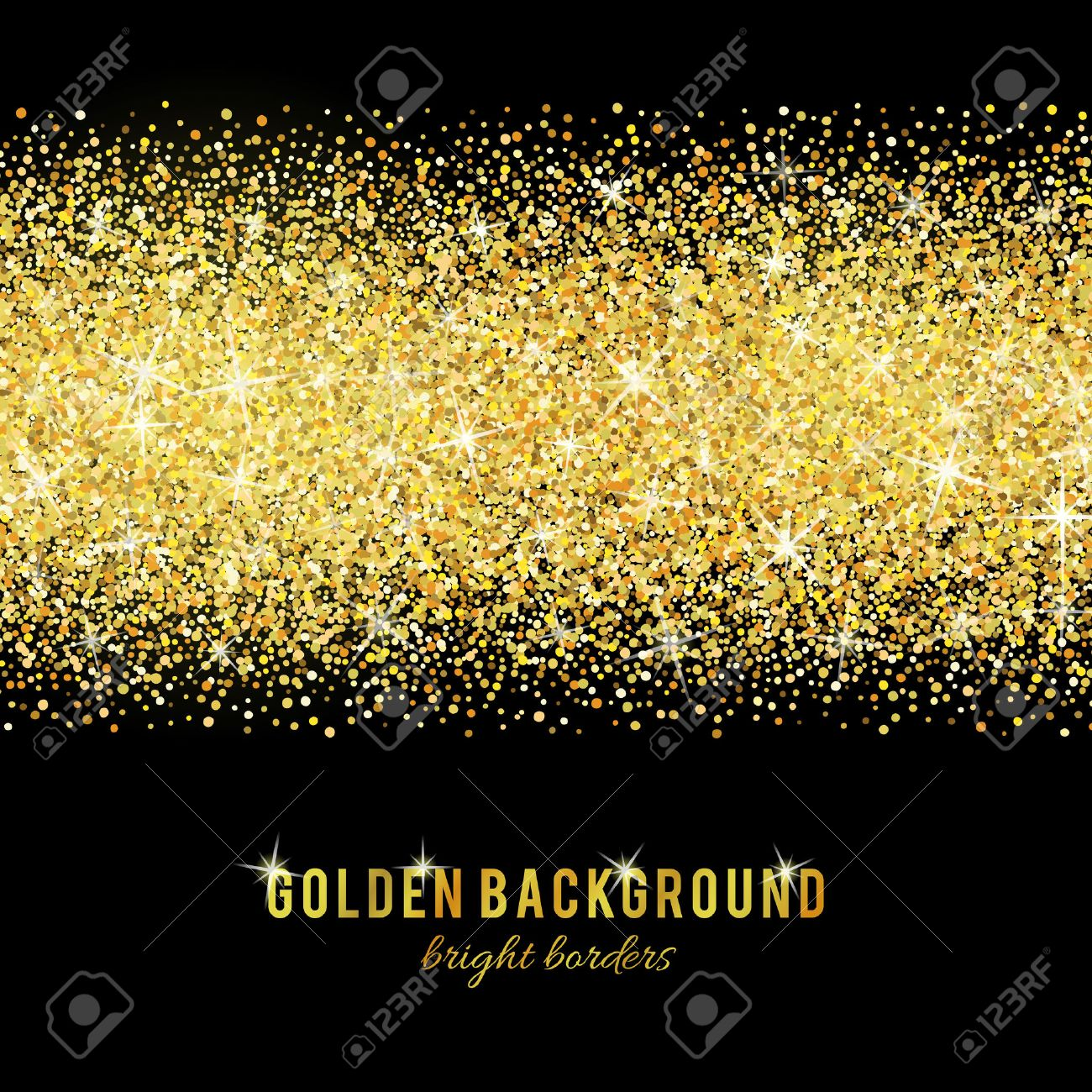 Gold glitter texture isolated on black background. - 53524100