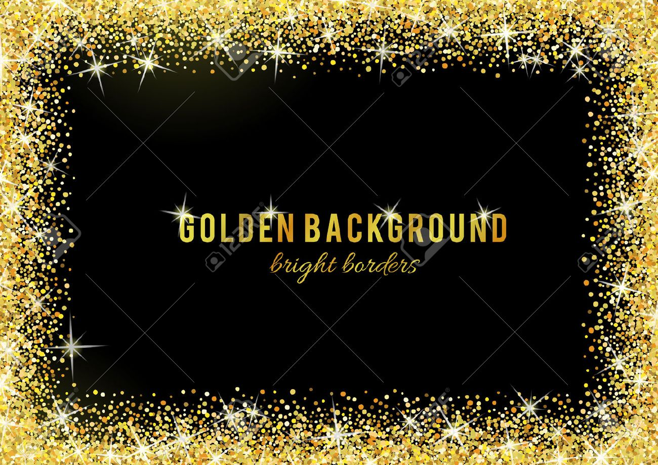 Gold glitter texture isolated on black background. - 53524096