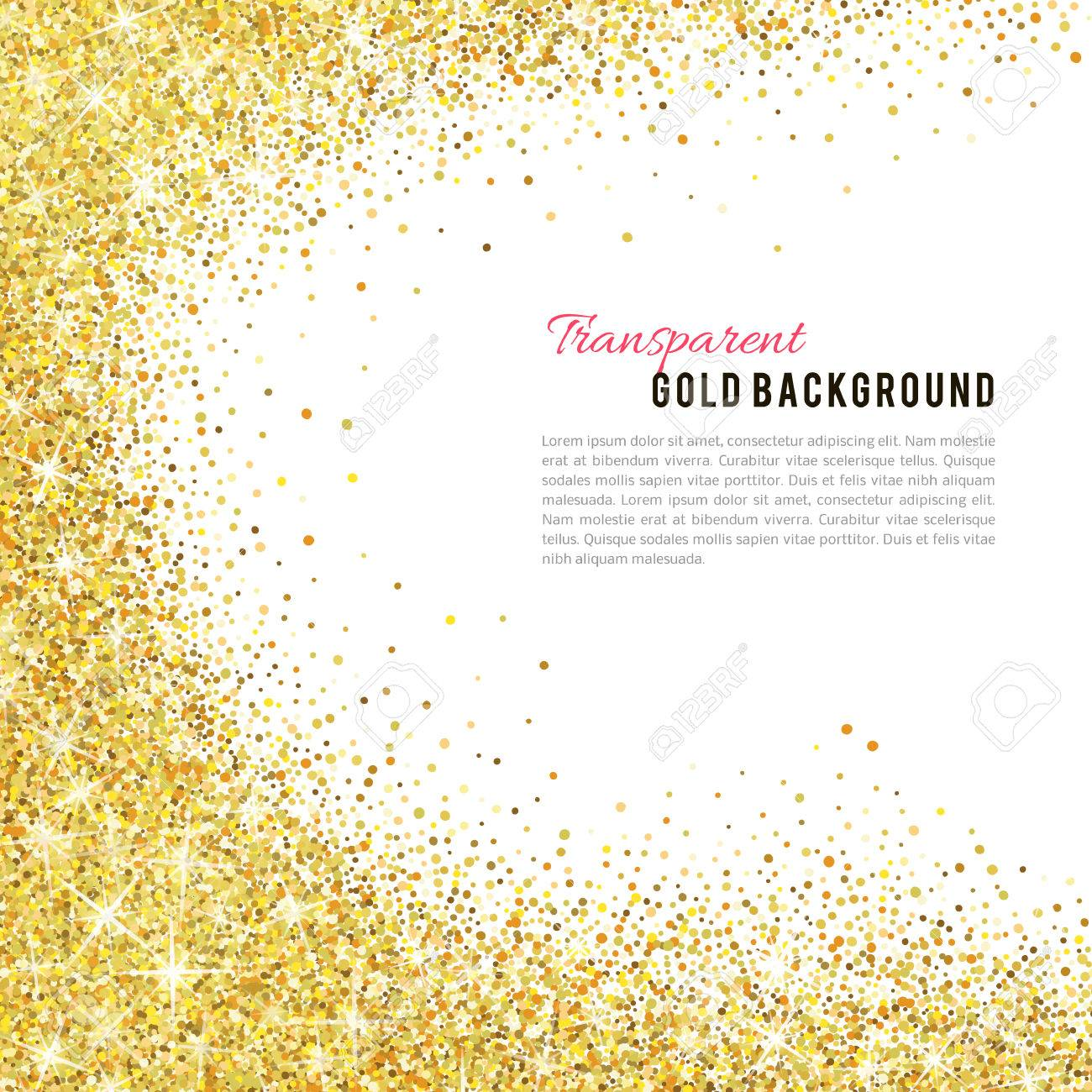 Gold glitter texture isolated on white background. - 53983297