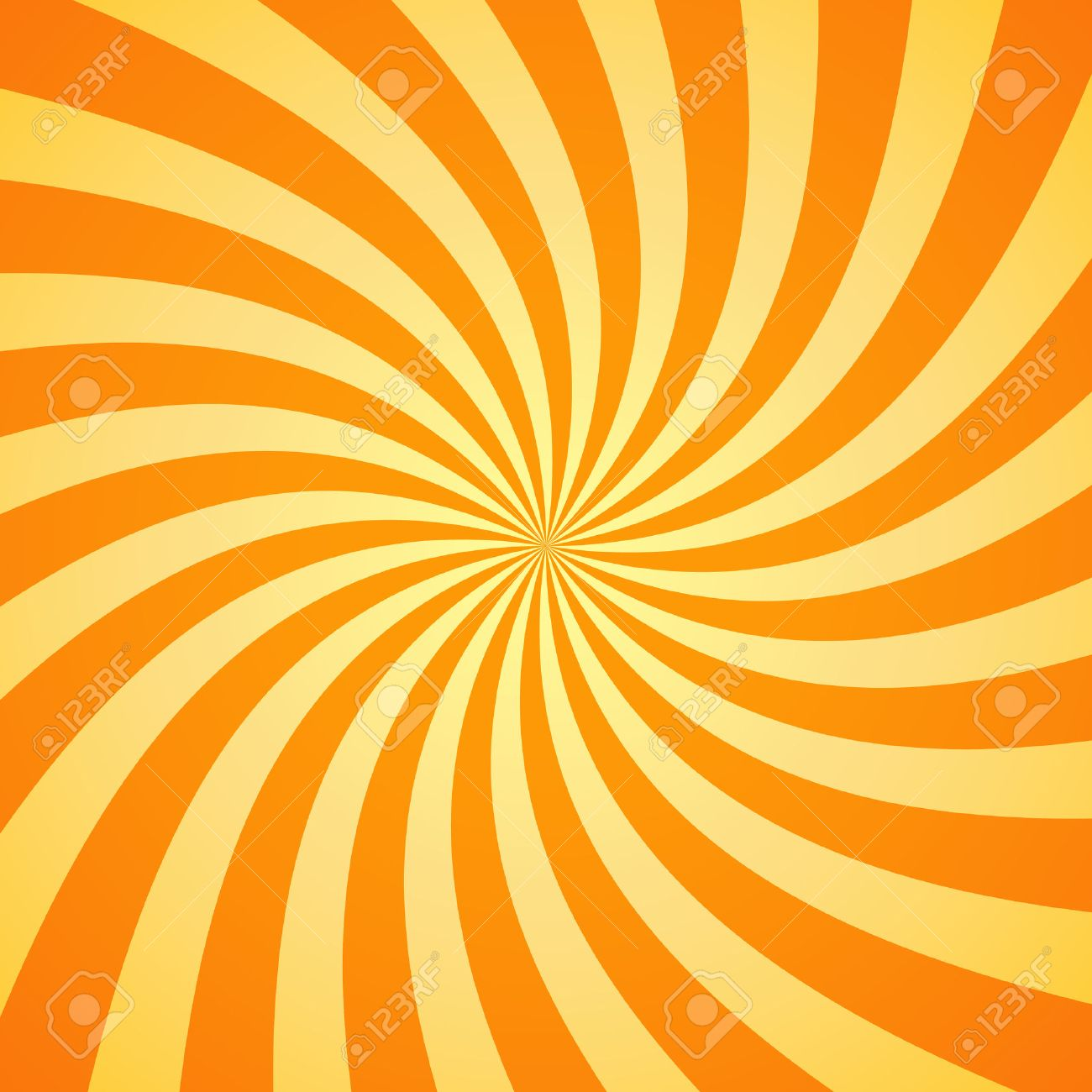 Swirling radial pattern background. Vector illustration for swirl design. Vortex starburst spiral twirl square. Helix rotation rays. Converging psychadelic scalable stripes. Fun sun light beams. - 53984882