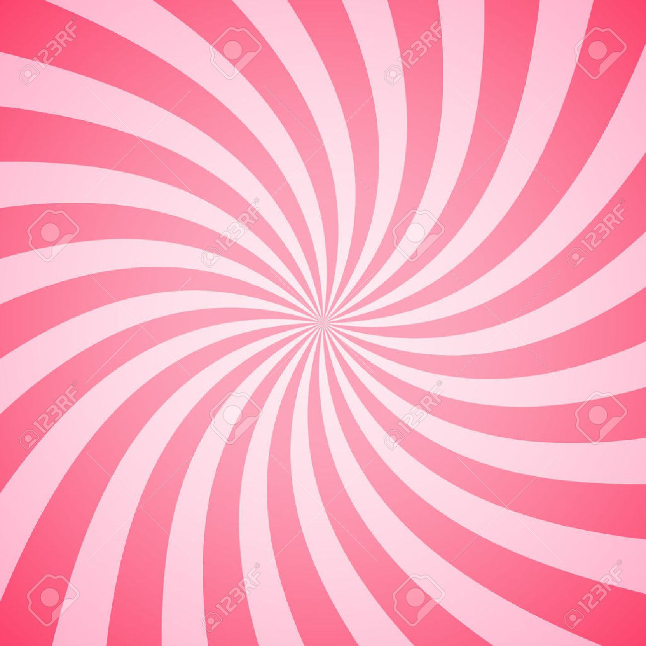 Swirling radial pattern background. Vector illustration for swirl design. Vortex starburst spiral twirl square. Helix rotation rays. Converging psychadelic scalable stripes. Fun sun light beams. - 53984904