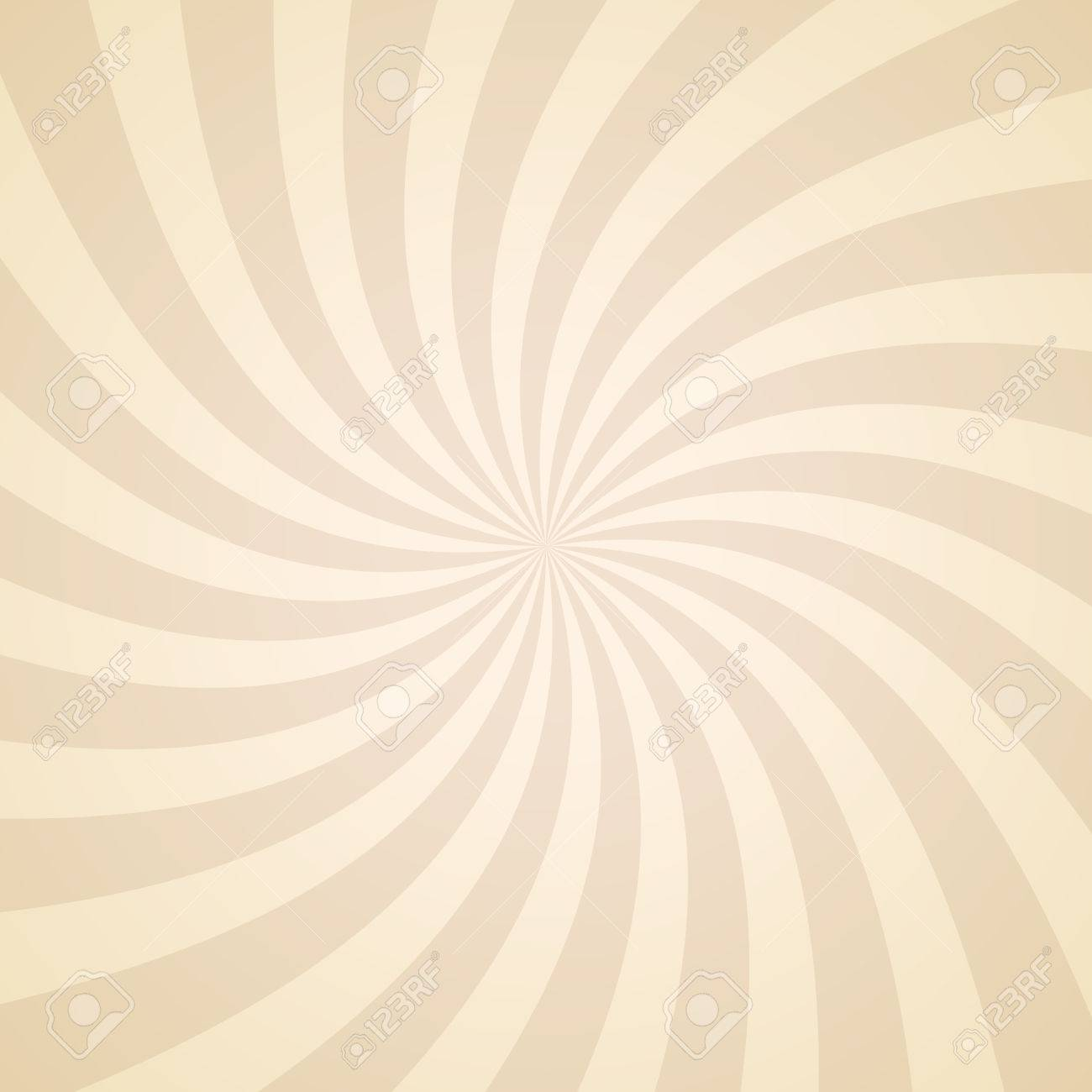Swirling radial pattern background. Vector illustration for swirl design. Vortex starburst spiral twirl square. Helix rotation rays. Converging psychadelic scalable stripes. Fun sun light beams. - 53985143