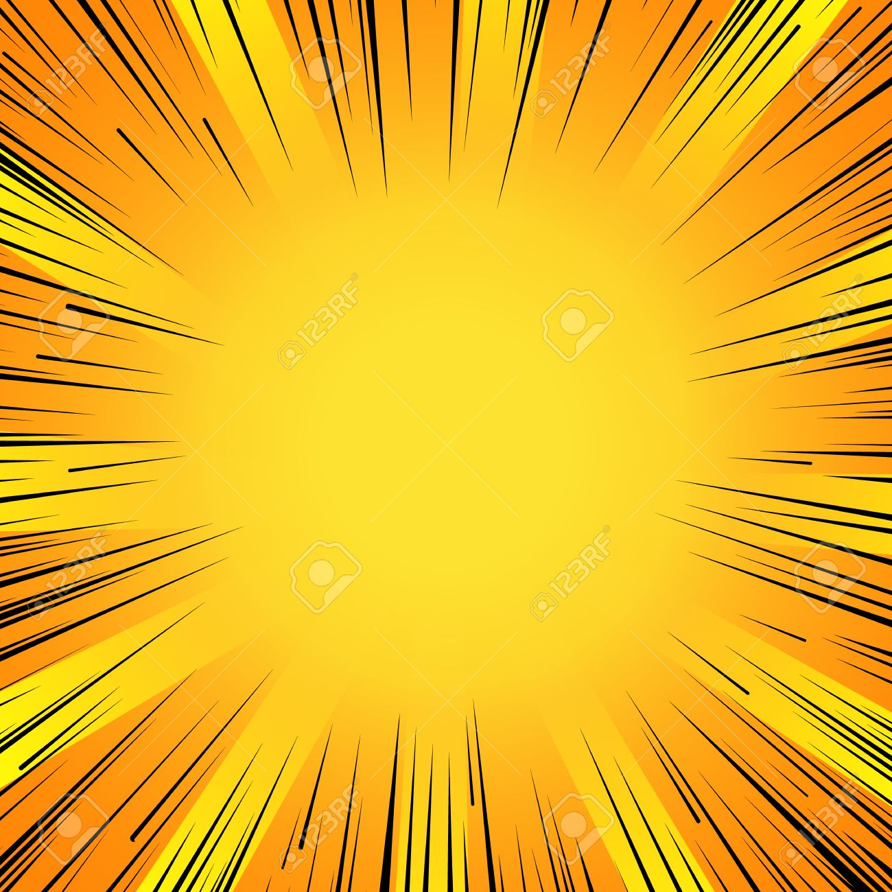 Abstract comic book flash explosion radial lines background. - 53985421