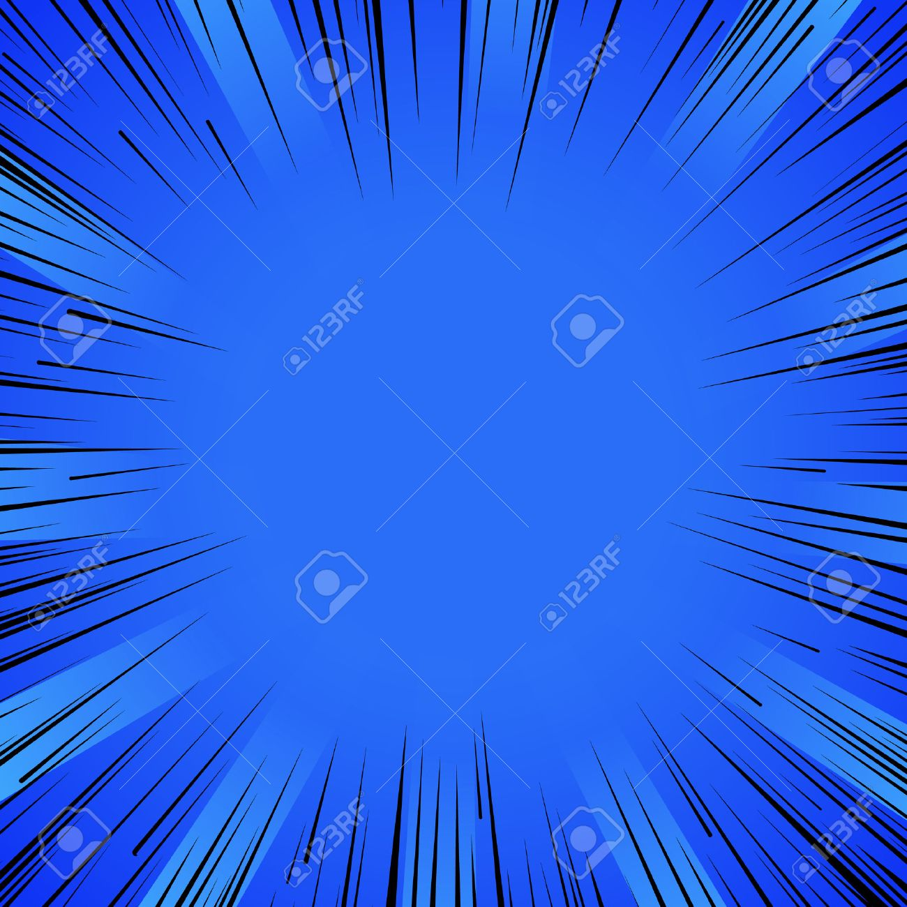 Abstract comic book flash explosion radial lines background. - 53985422