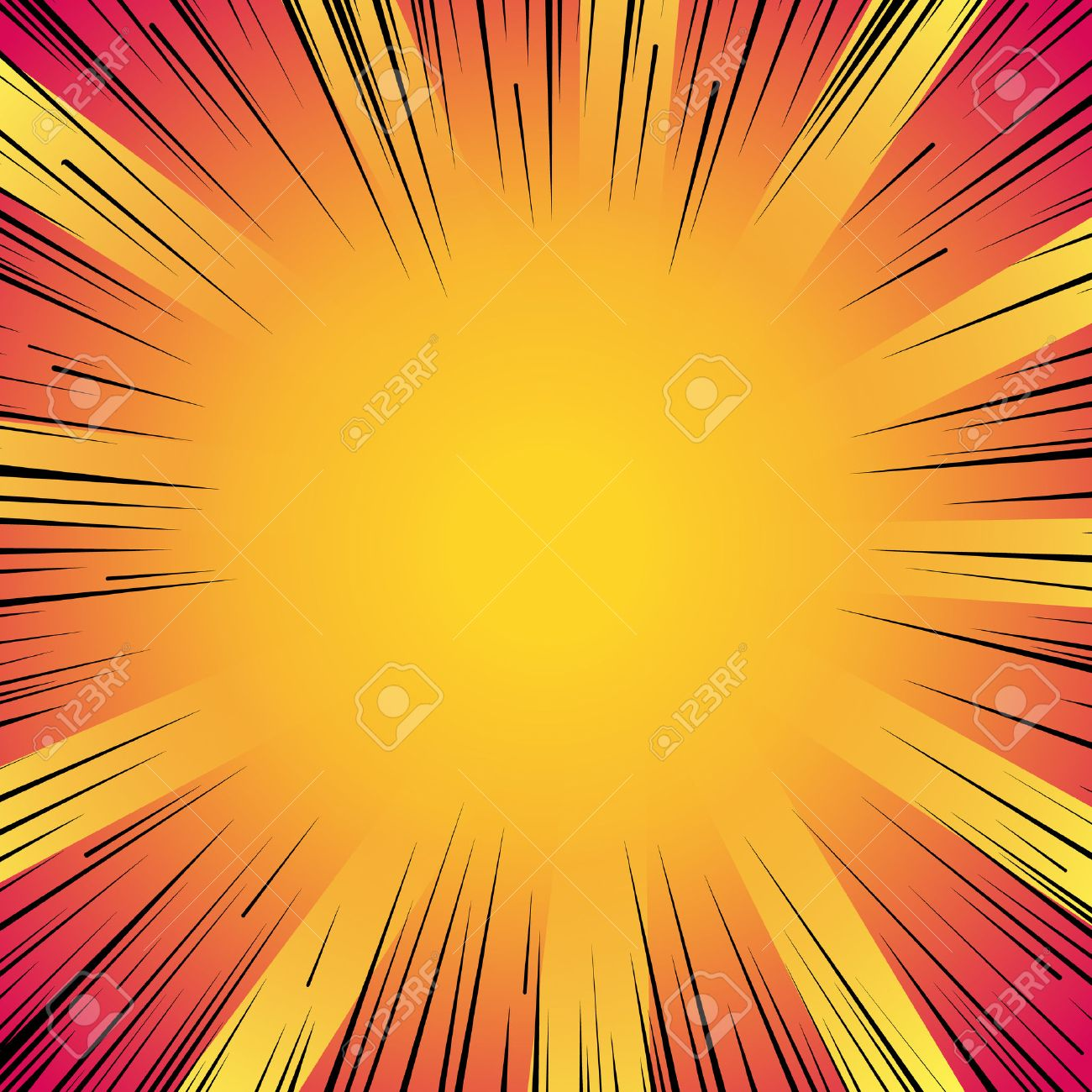 Abstract comic book flash explosion radial lines background. - 53985435