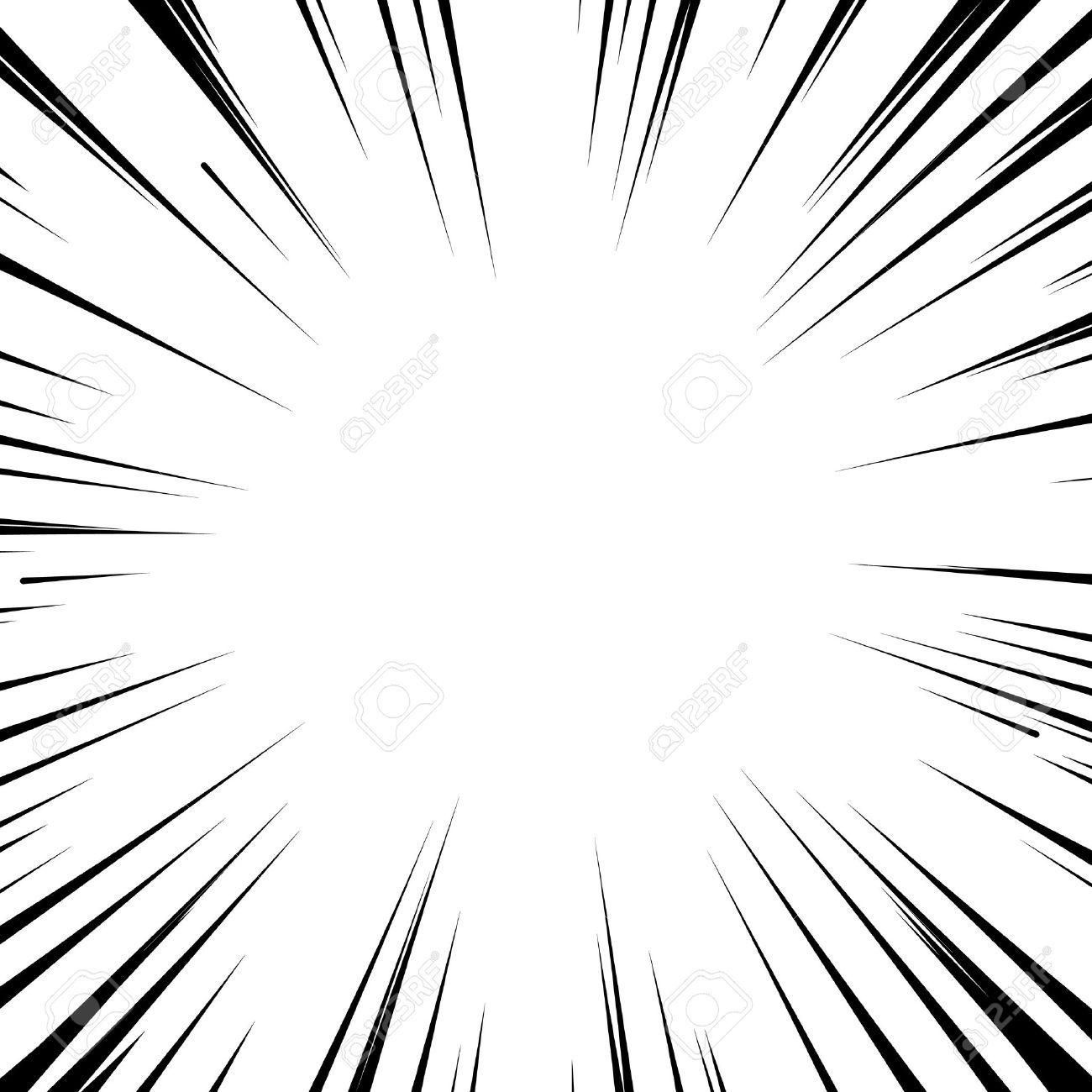 Abstract comic book flash explosion radial lines background. Vector illustration for superhero design. Bright black white light strip burst. Flash ray blast glow. Manga cartoon hero fight print stamp - 55298515