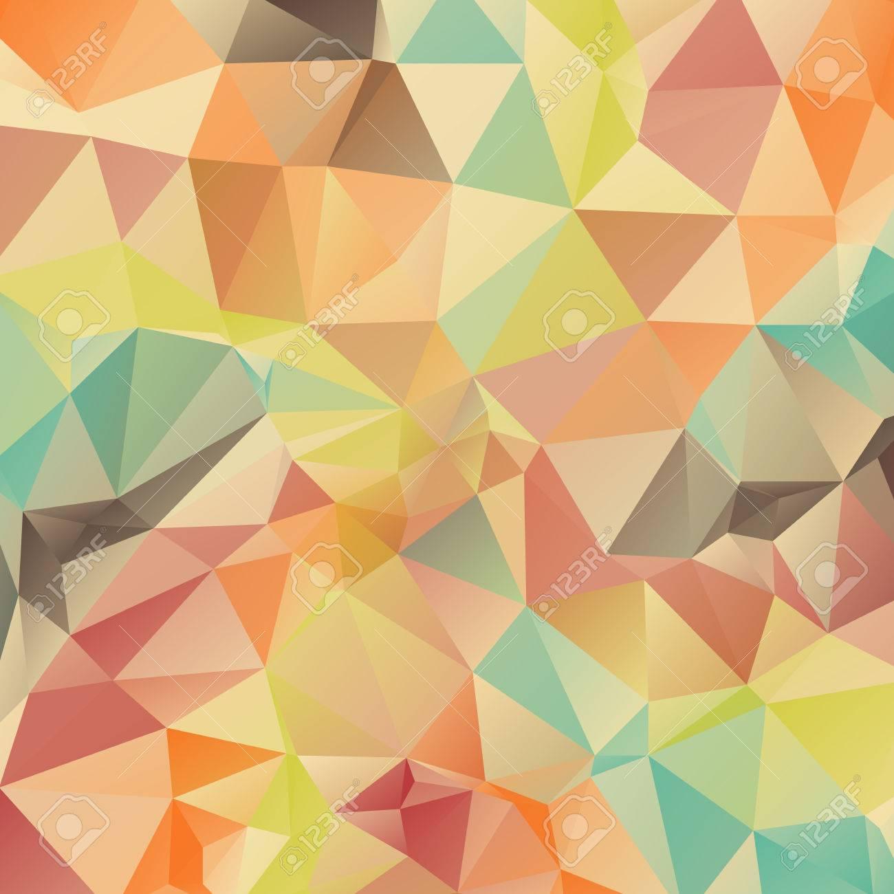 Abstract Retro Geometrischen Dreieck Hintergrund Vektor