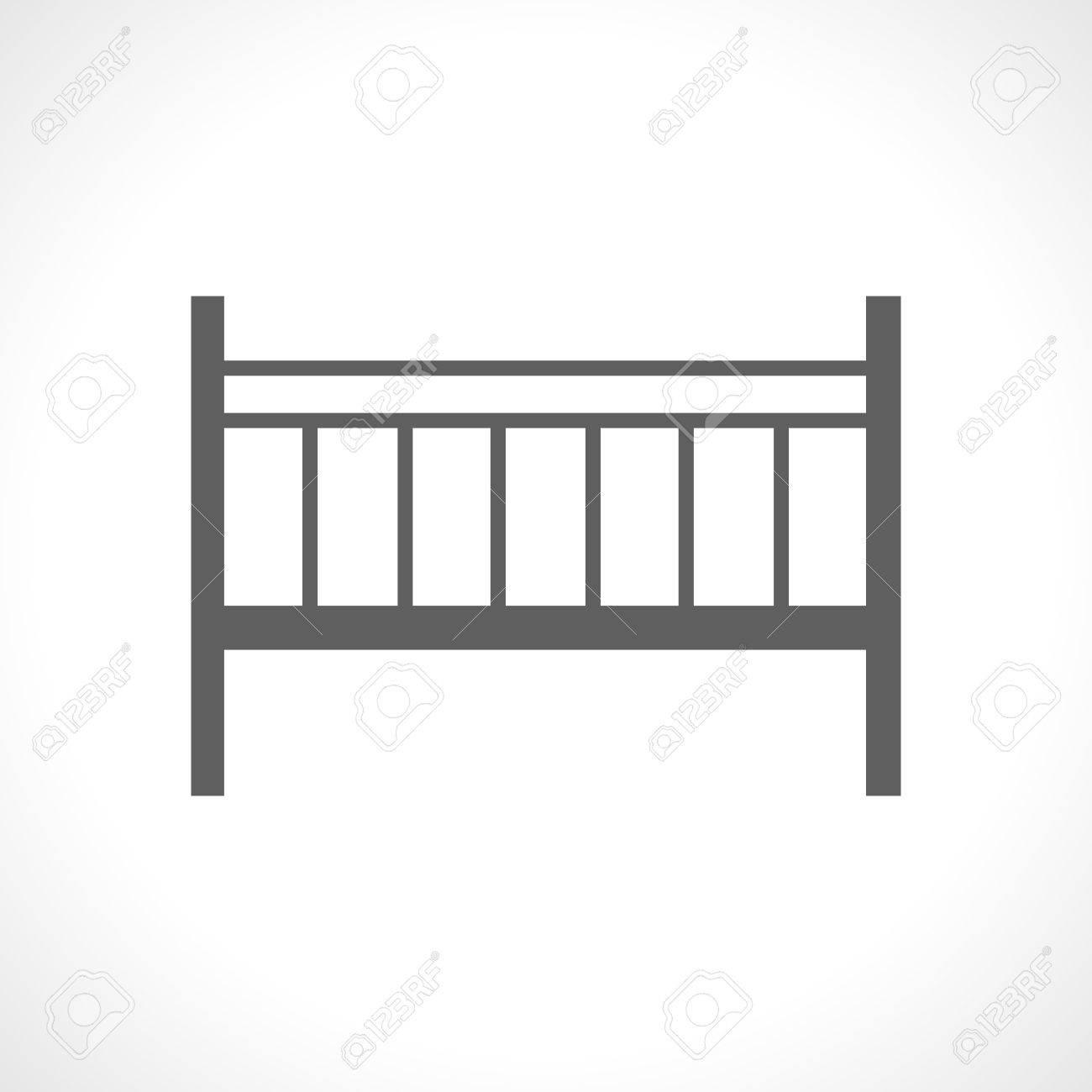 Cuna Icono Aislado Sobre Fondo Blanco. Cama Plegable Portátil ...