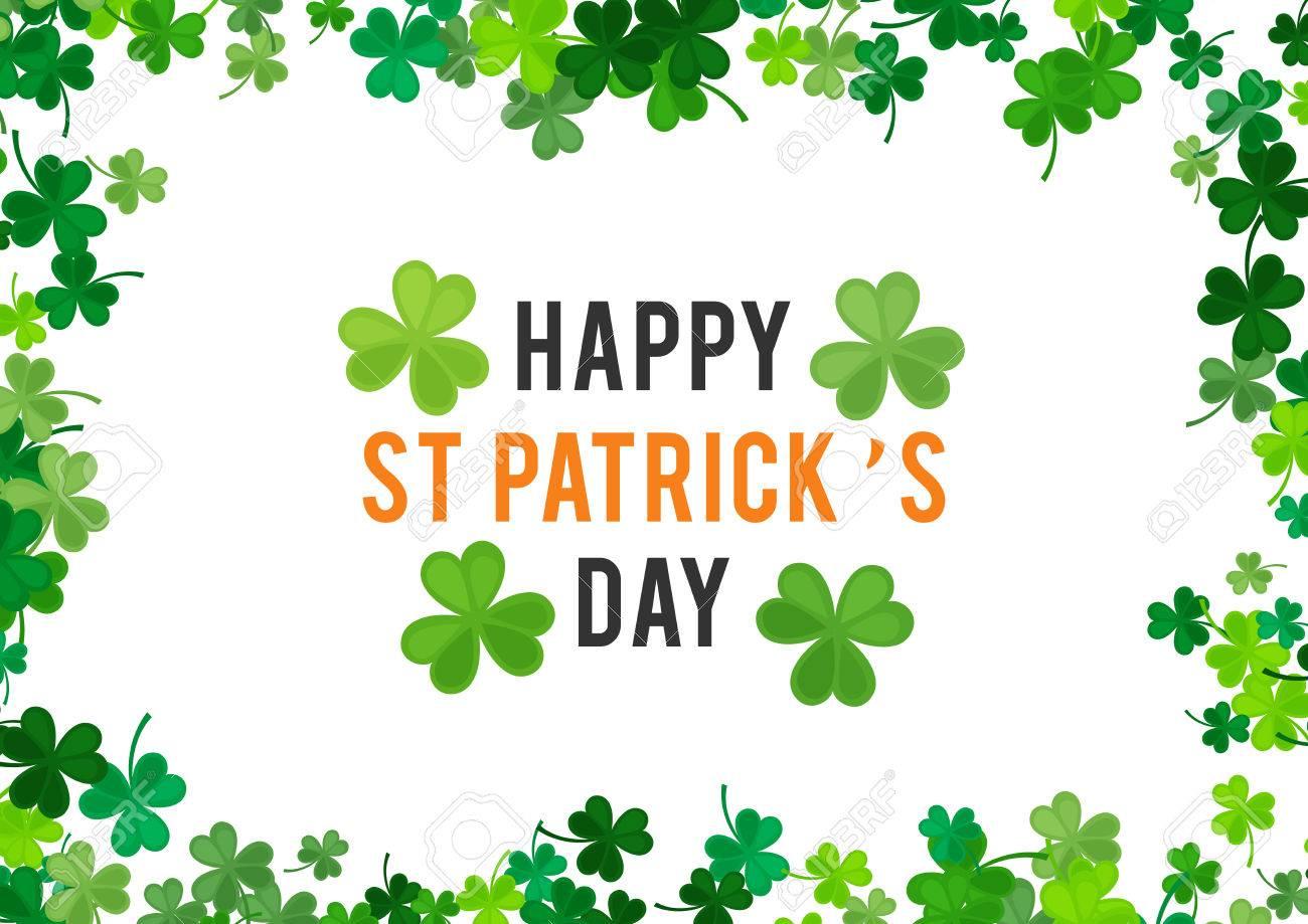 st patricks day background illustration for luck spring design