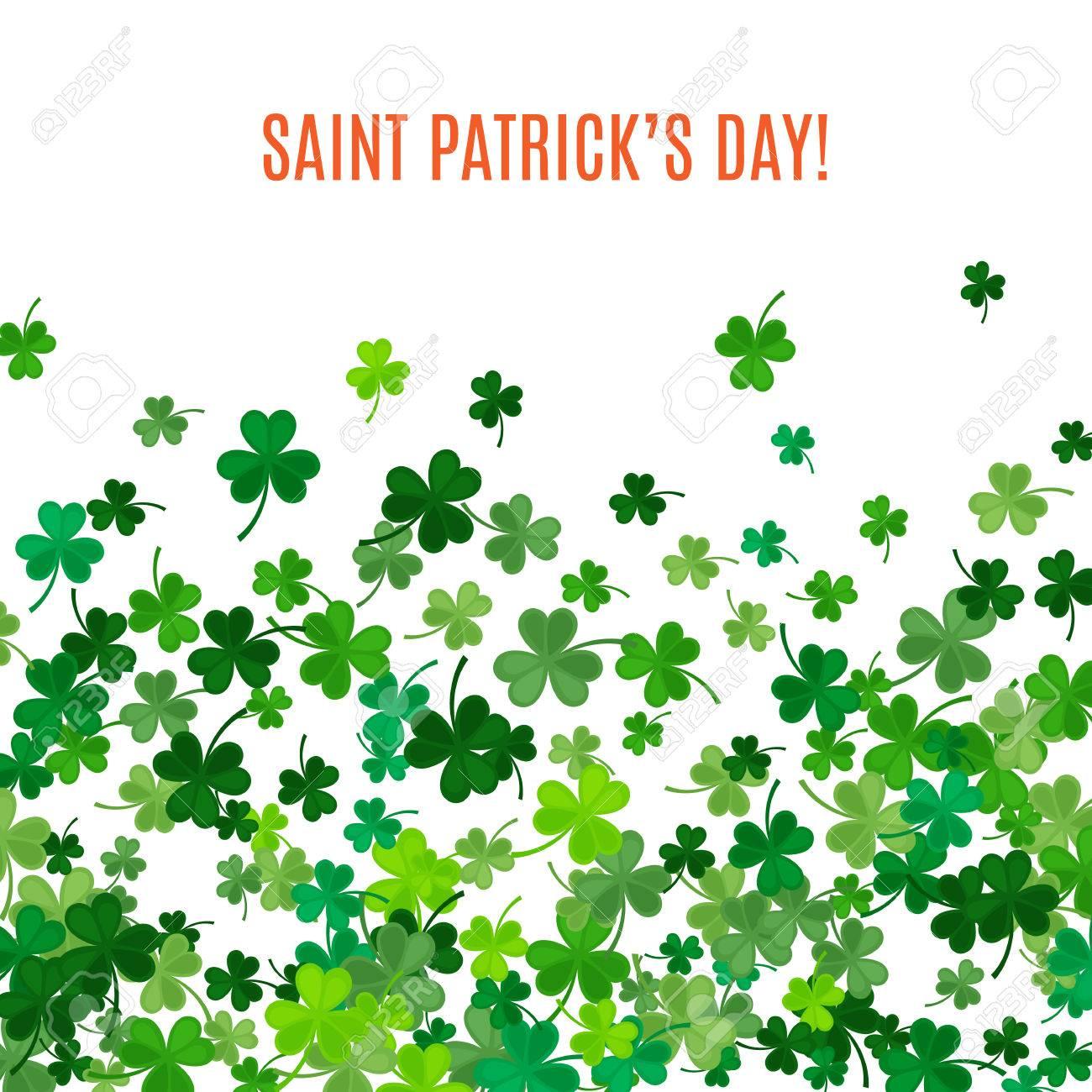 St. Patricks Day Hintergrund. Illustration Für Das Glück ...
