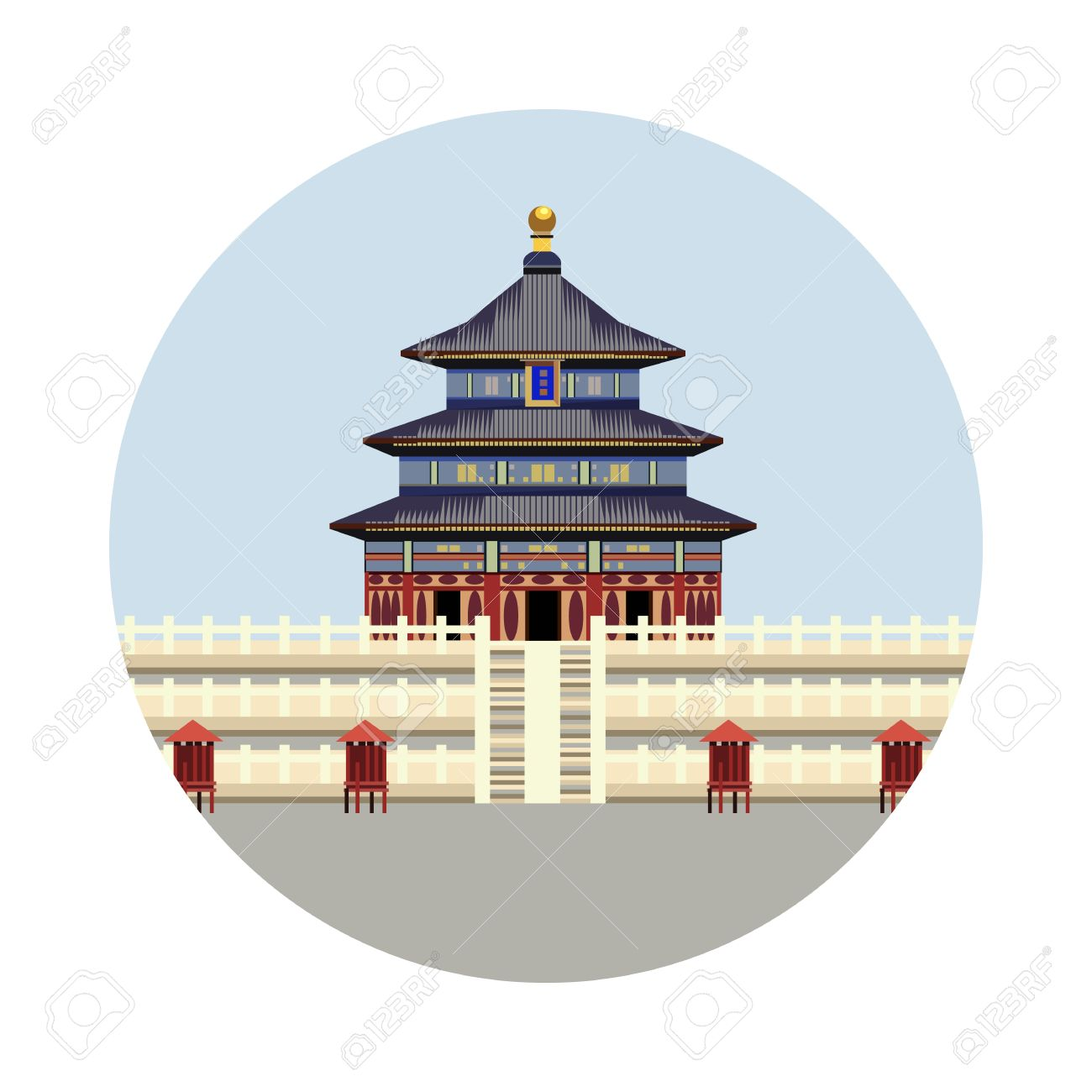 Temple of heaven icon isolated on white background vector china landmark symbol touristic asian temple temple of heaven icon isolated on white background vector illustration for famous building design buycottarizona Gallery