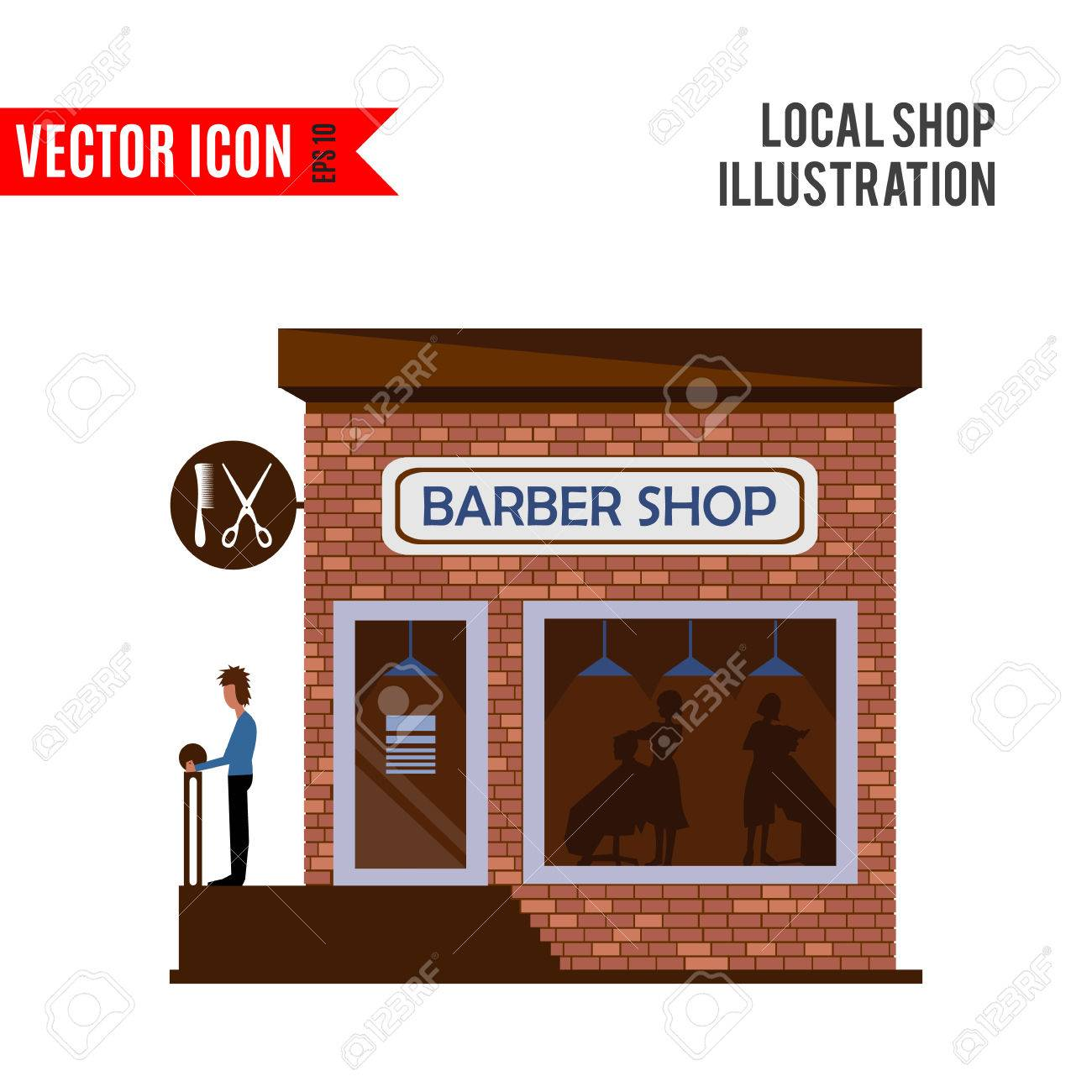 Hair salon chair isolated stock photos illustrations and vector art - Barber Shop Icon Isolated On White Background Vector Illustration For Hair Design Retail Store