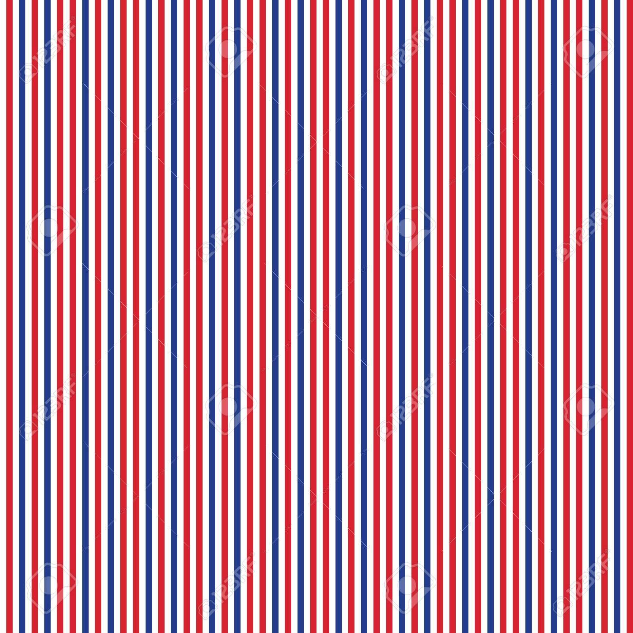 愛国的な赤 白 青幾何学的シームレス パターン アメリカのシンボル